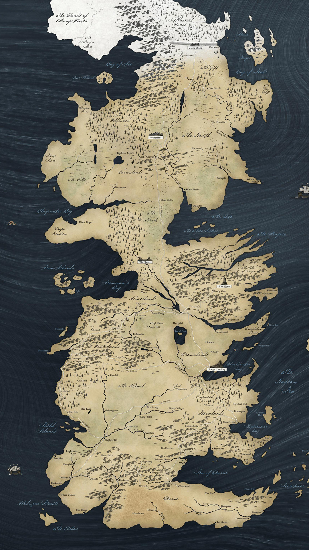 Game of Thrones map Wallpaper