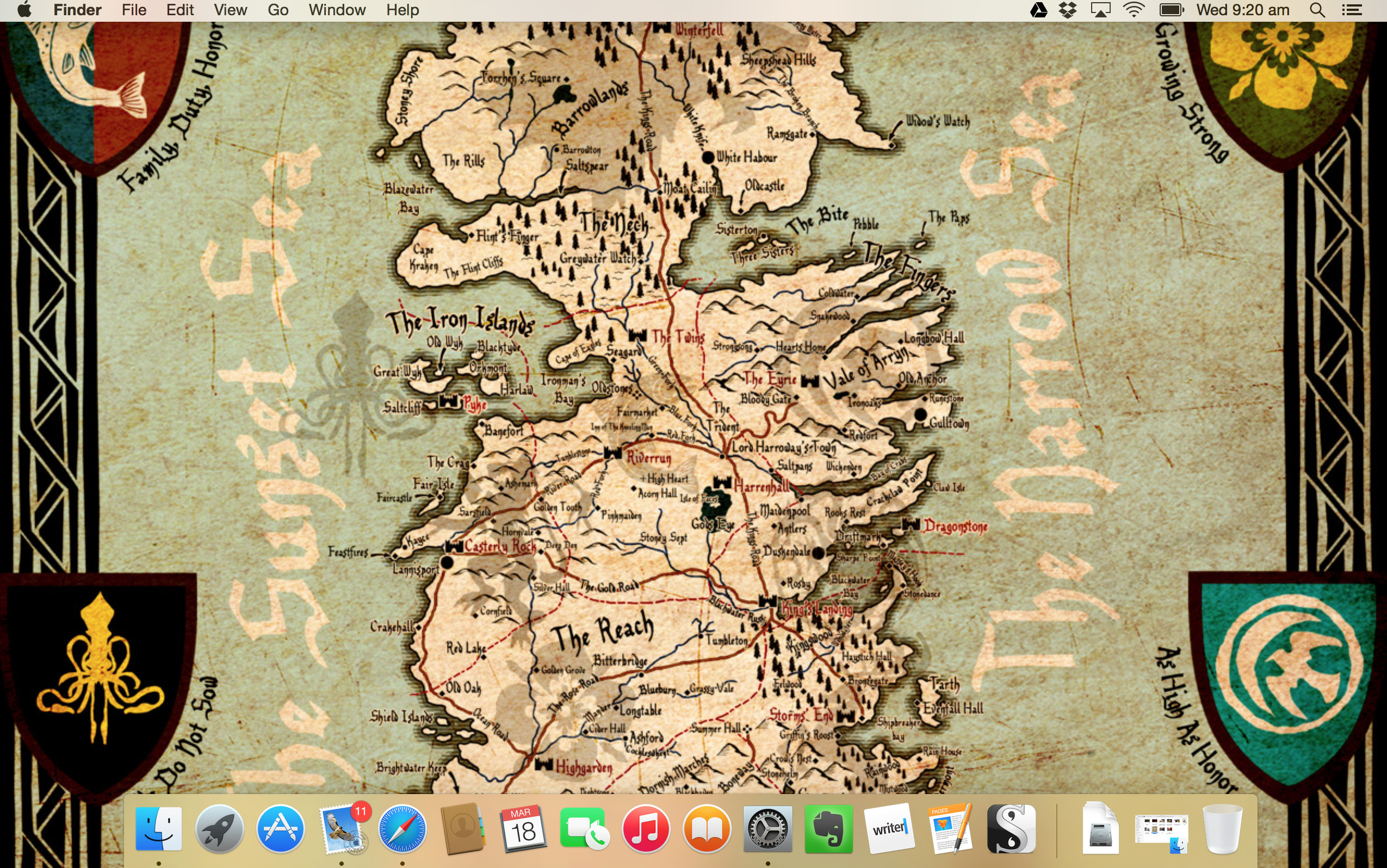 #Wallpaper Wednesday: The Seven Kingdoms of Westeros | Woelf Dietrich