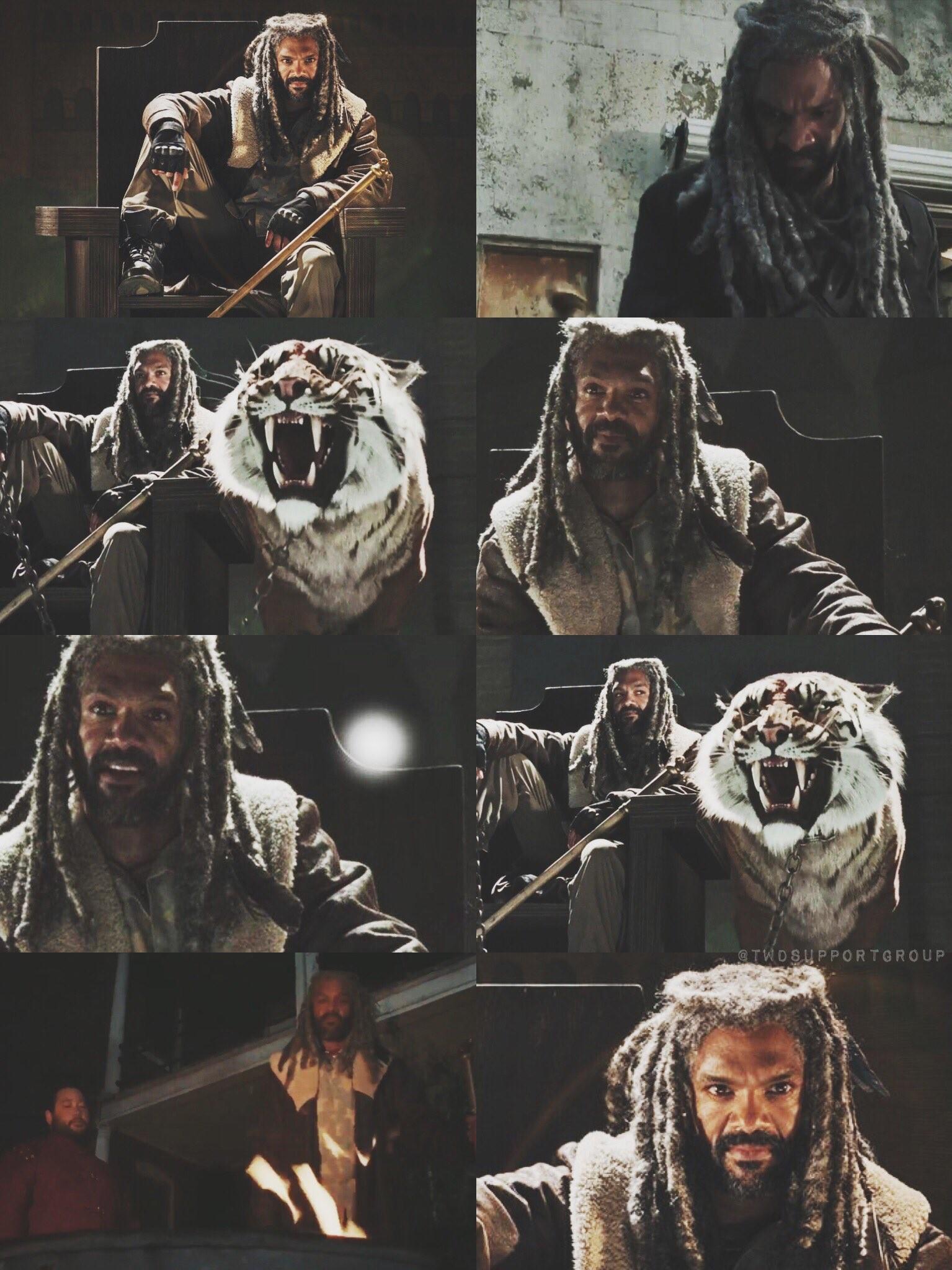 King Ezekiel & Shiva ~ The Walking Dead ~ Season 7 ~ The Kingdom