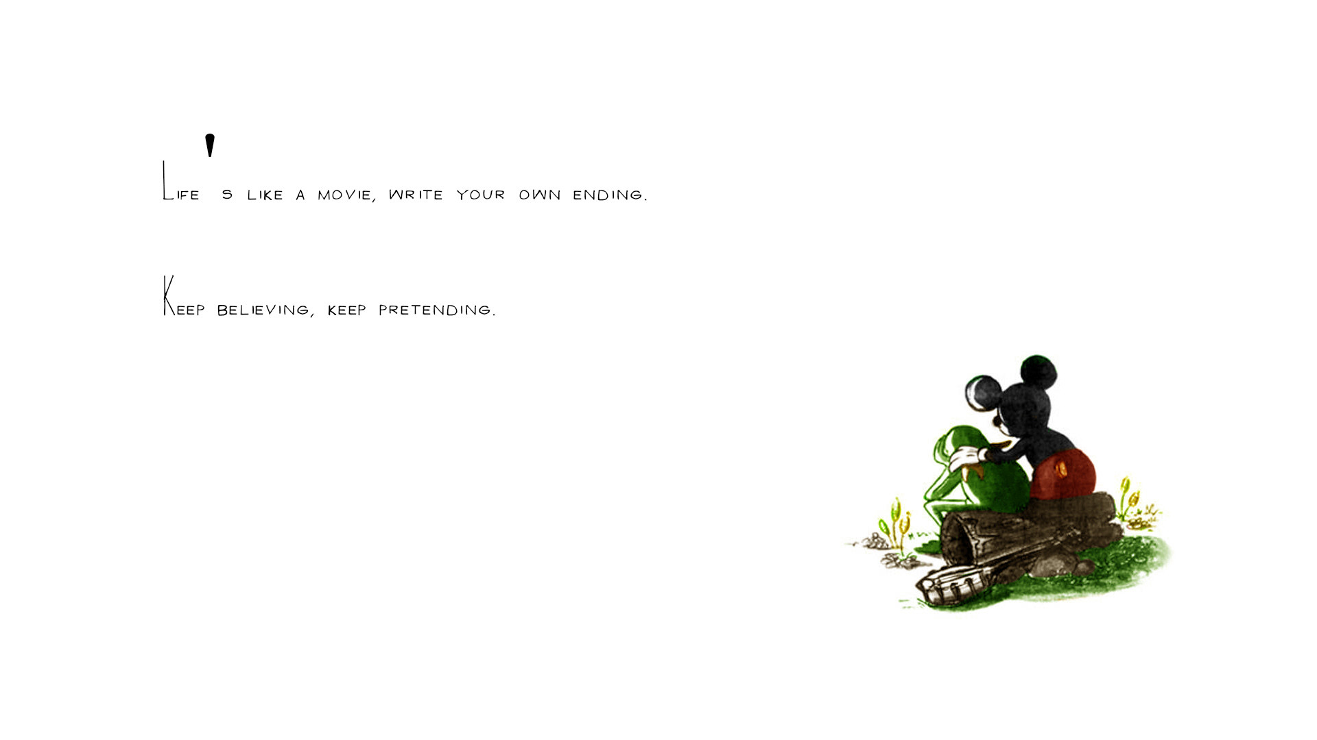 Life White Mickey Mouse Kermit the Frog Embrace wallpaper | |  118017 | WallpaperUP