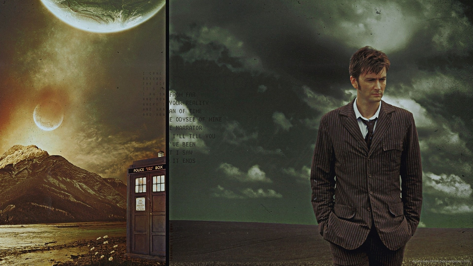 1366×768 David Tennant Doctor Who wallpaper