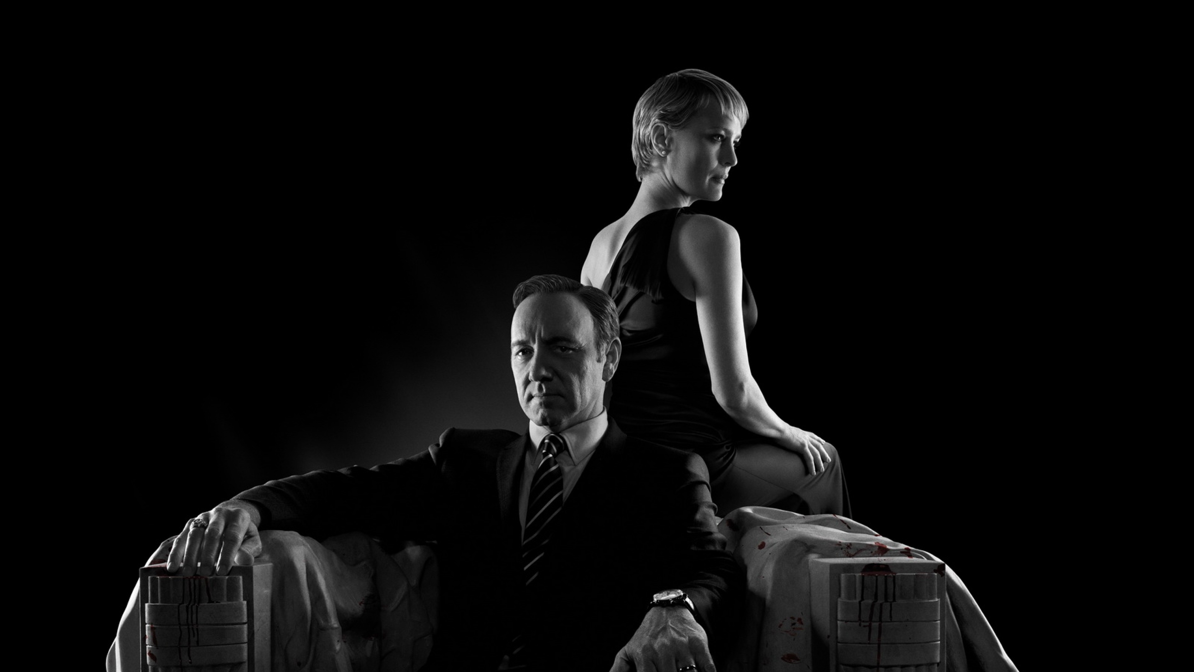 Preview wallpaper house of cards, robin wright, claire underwood, kevin  spacey, francis