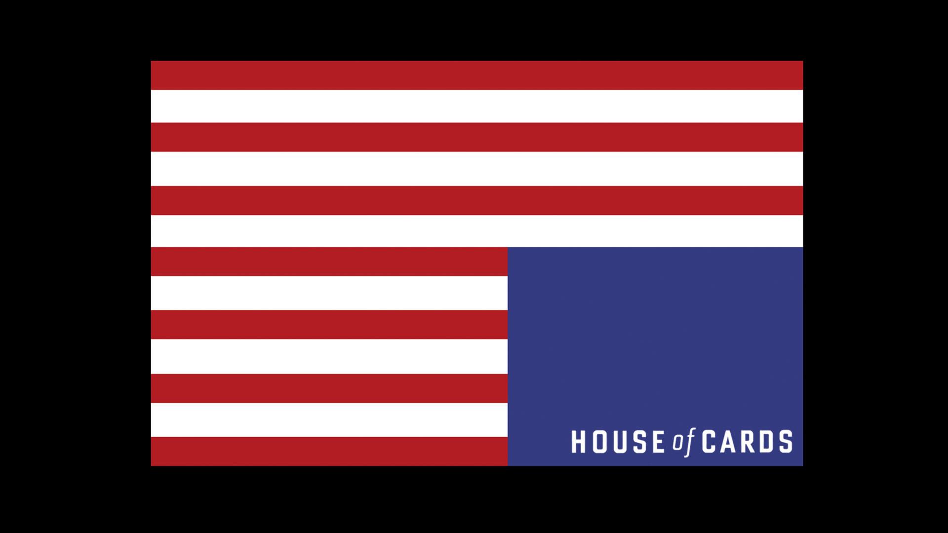 House of Cards Flag Logo wallpaper