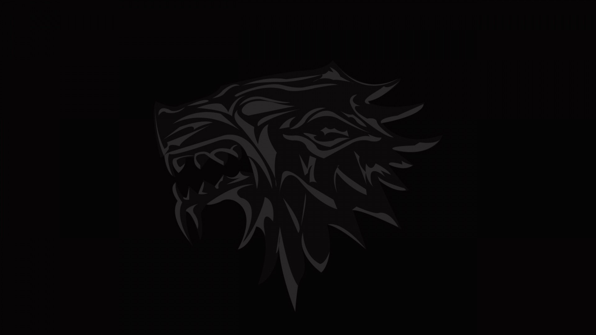 Wallpaper house of stark, game of thrones, logo, emblem, wolf