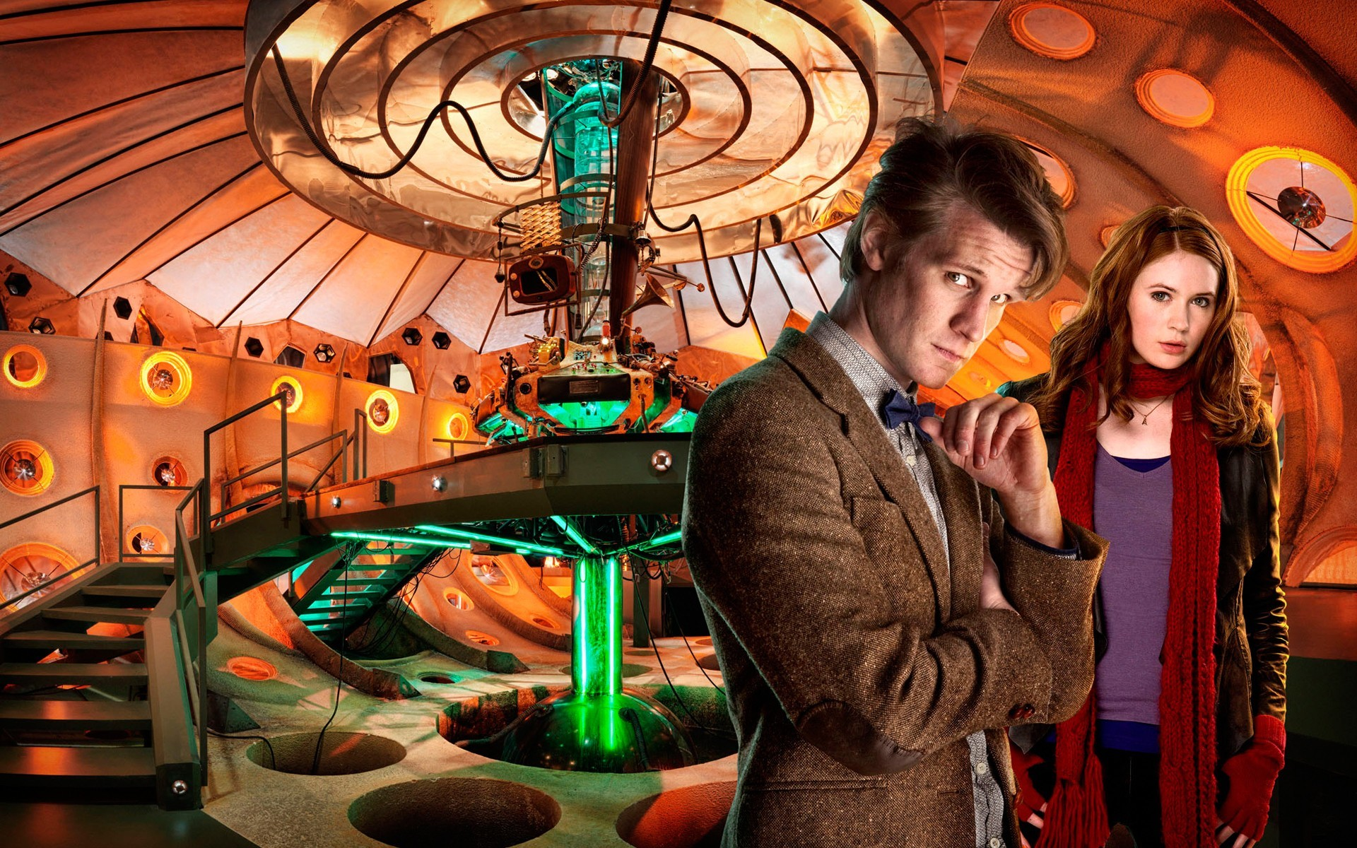 Karen Gillan, TARDIS, Matt Smith, Amy Pond, Eleventh Doctor, Doctor Who