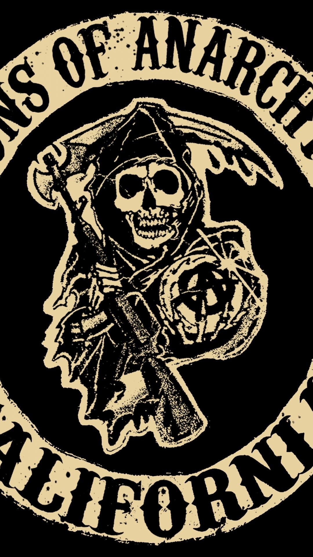 Download Wallpaper Sons of anarchy, Tv series, Logo .