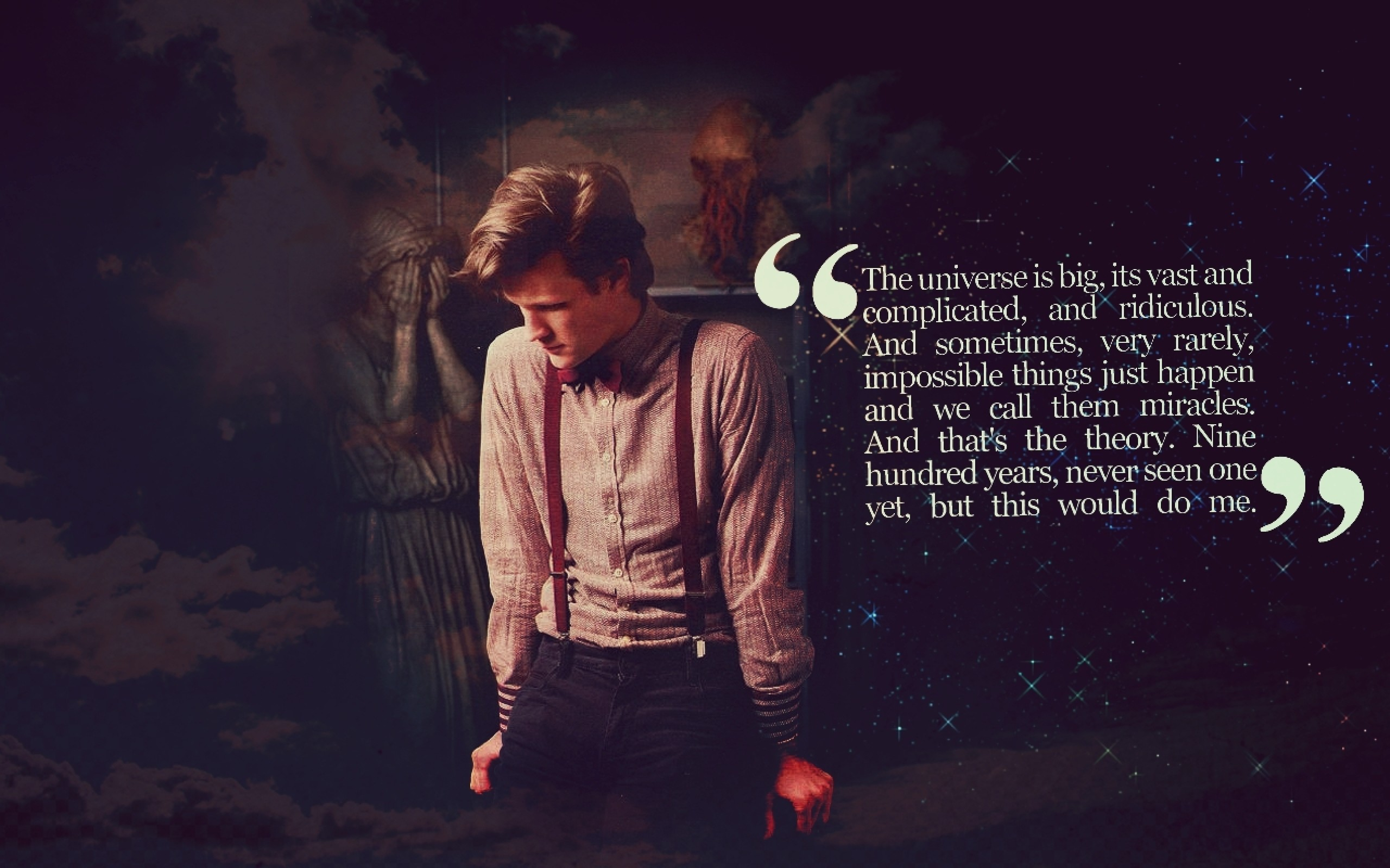 320×480 Doctor Who Quote Iphone wallpaper
