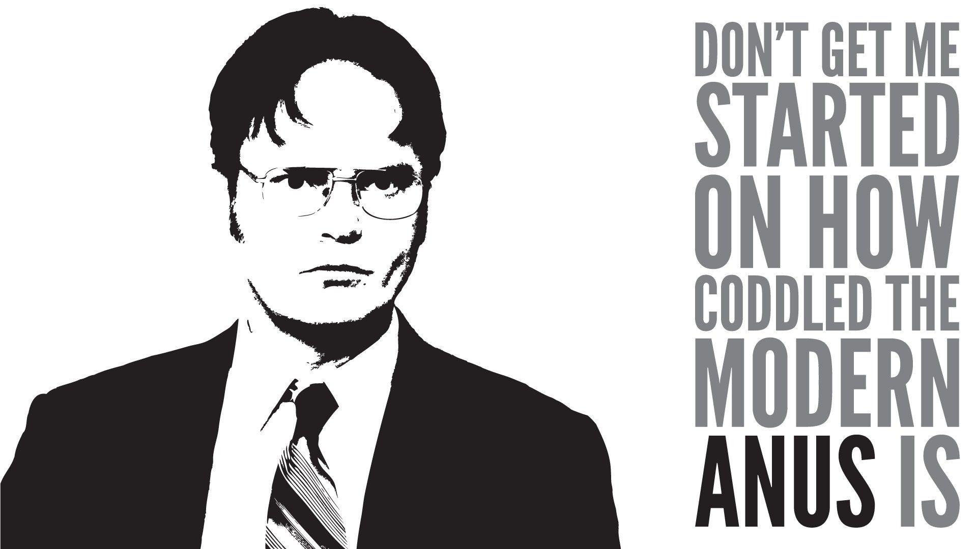 The Office Dwight Schrute Rainn Wilson question wallpaper .