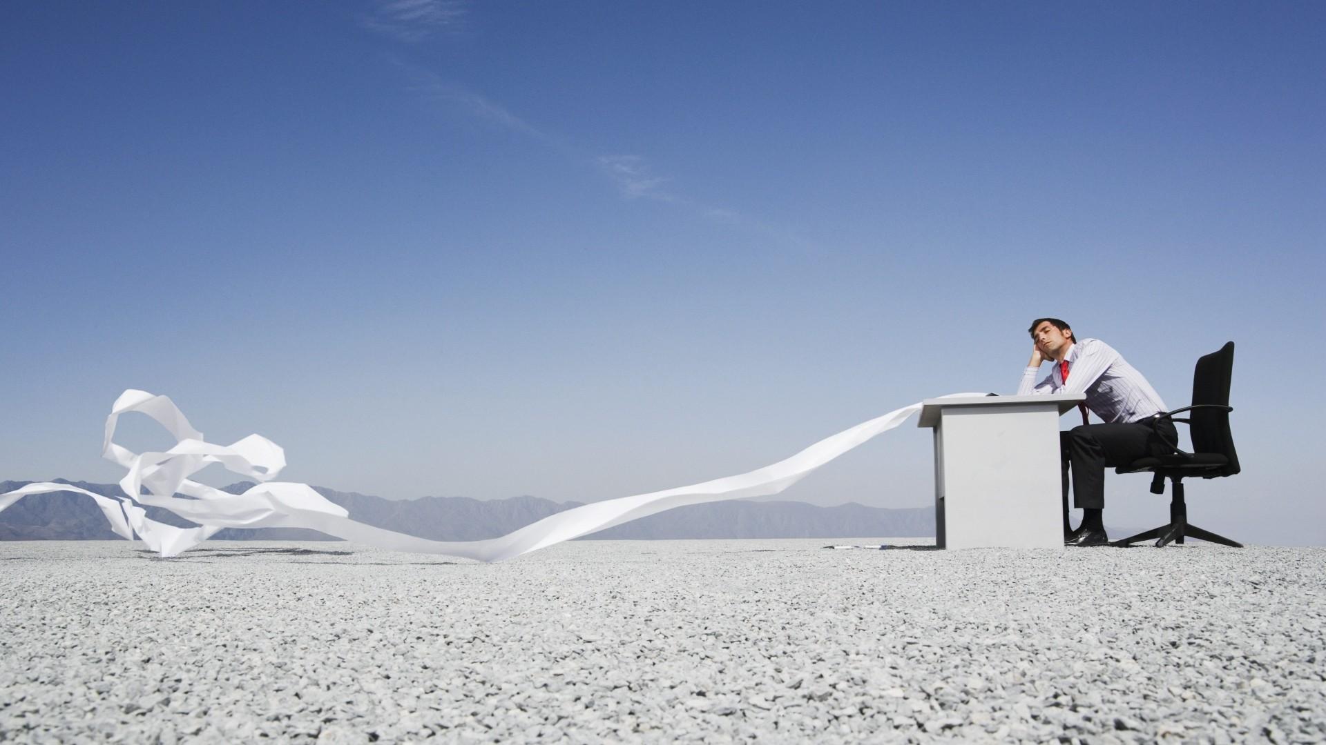 Wallpaper office, desktop, desert