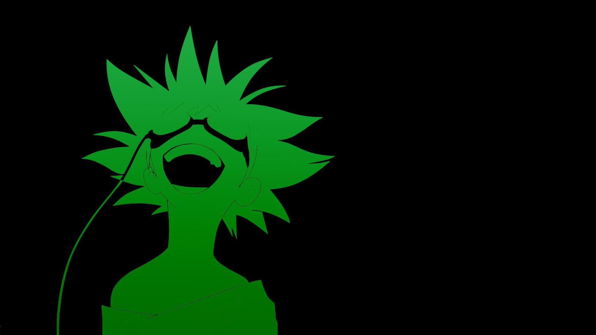 Anime Cowboy Bebop anime green black background anime boys