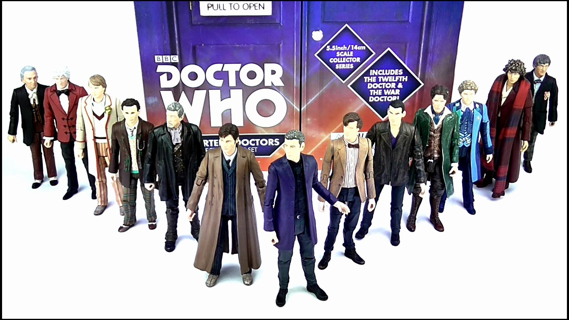 DOCTOR WHO The Thirteen Doctors Collector Figure Set Review | Votesaxon07 –  YouTube