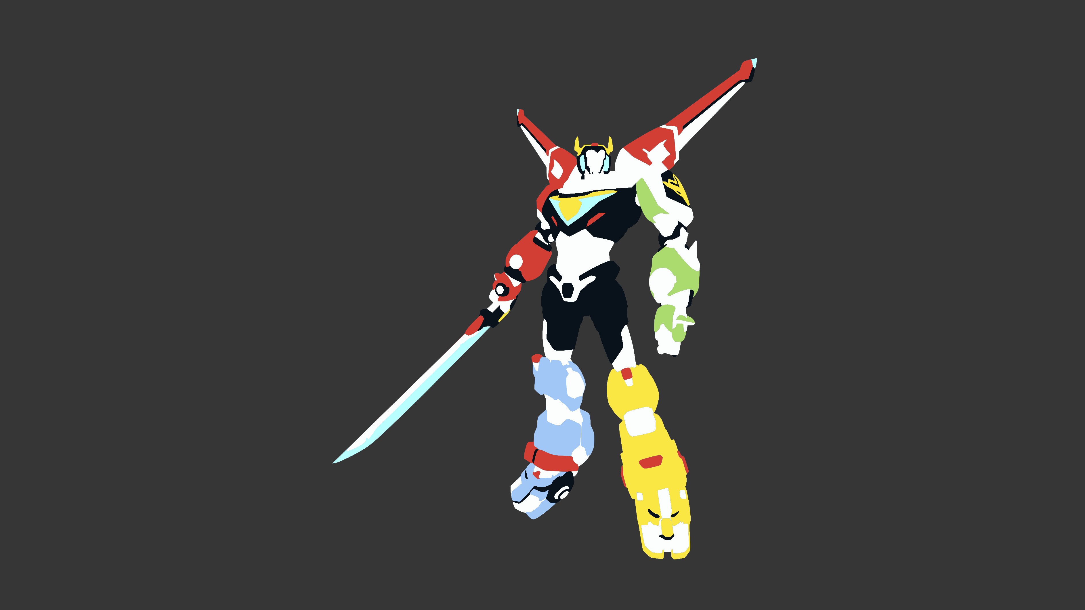 … Voltron Minimalist Wallpaper (Gray Background) by DamionMauville