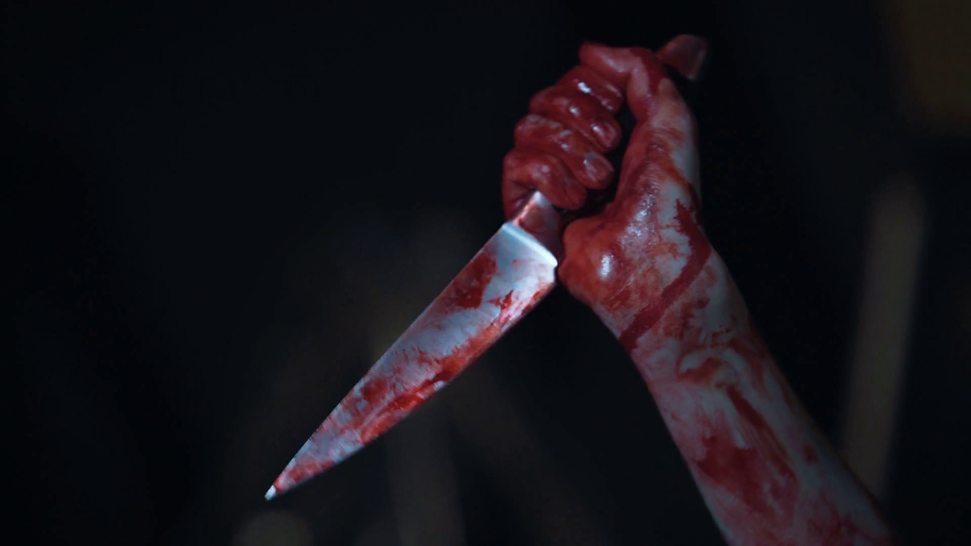 Mad serial killer gripping knife covered in blood, hands of ruthless maniac  Stock Video Footage – VideoBlocks