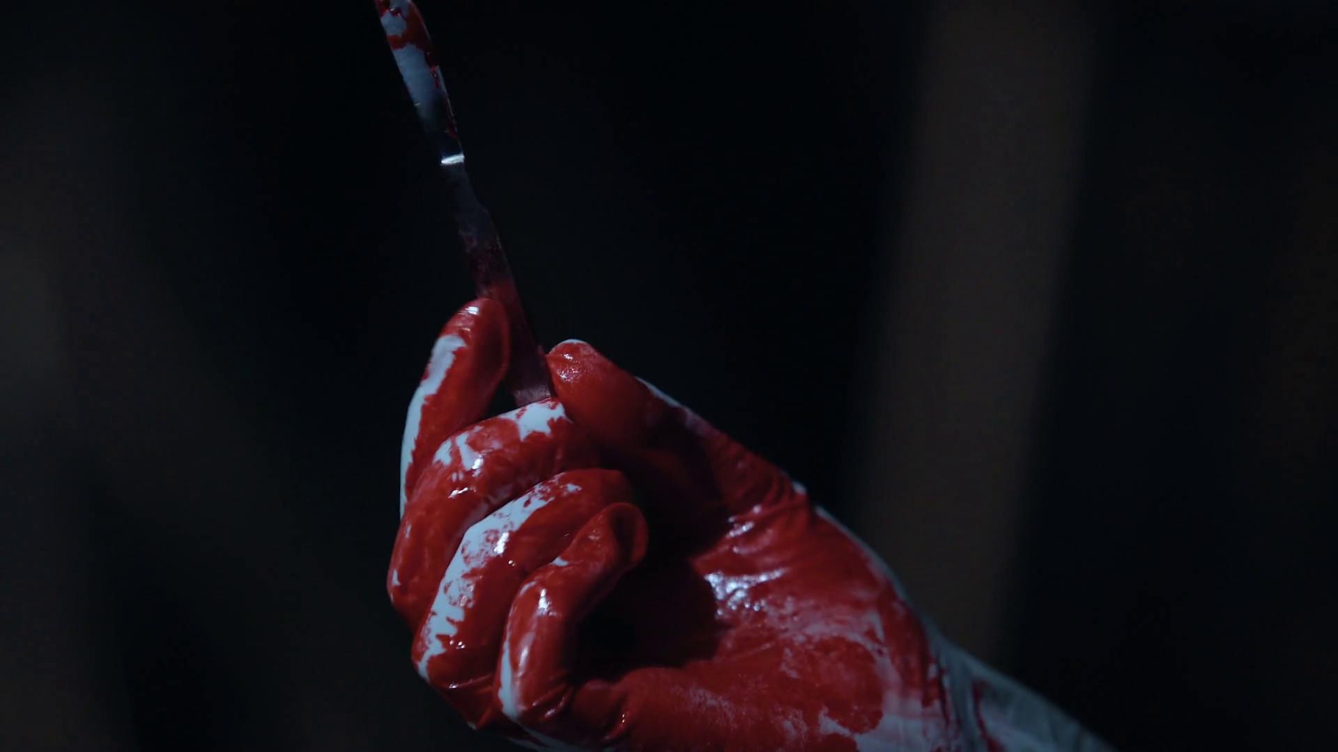 Bloody scalpel in hands of cruel serial killer, violence and crime, horror  scene Stock Video Footage – VideoBlocks