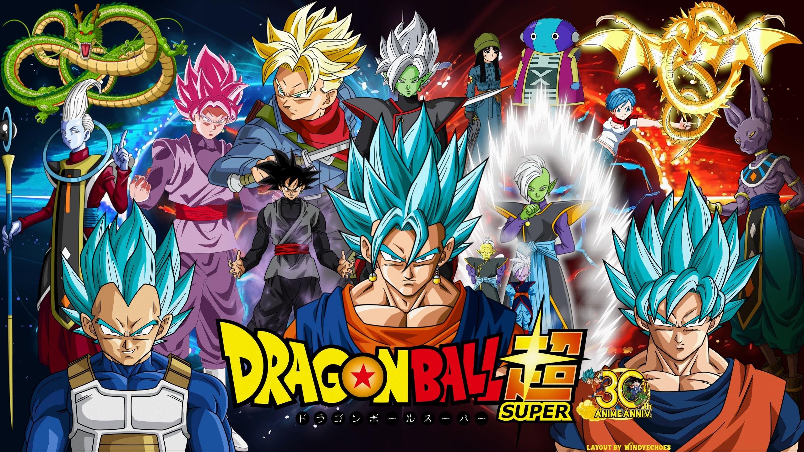 … Dragon Ball Super Wallpaper Vegito VS Zamasu by WindyEchoes