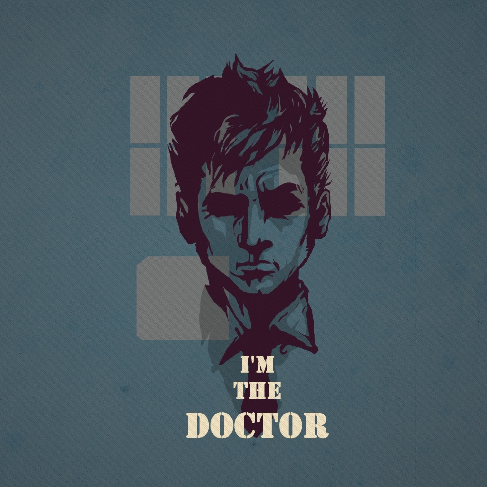 Preview wallpaper doctor who, tardis, tennant 2048×2048