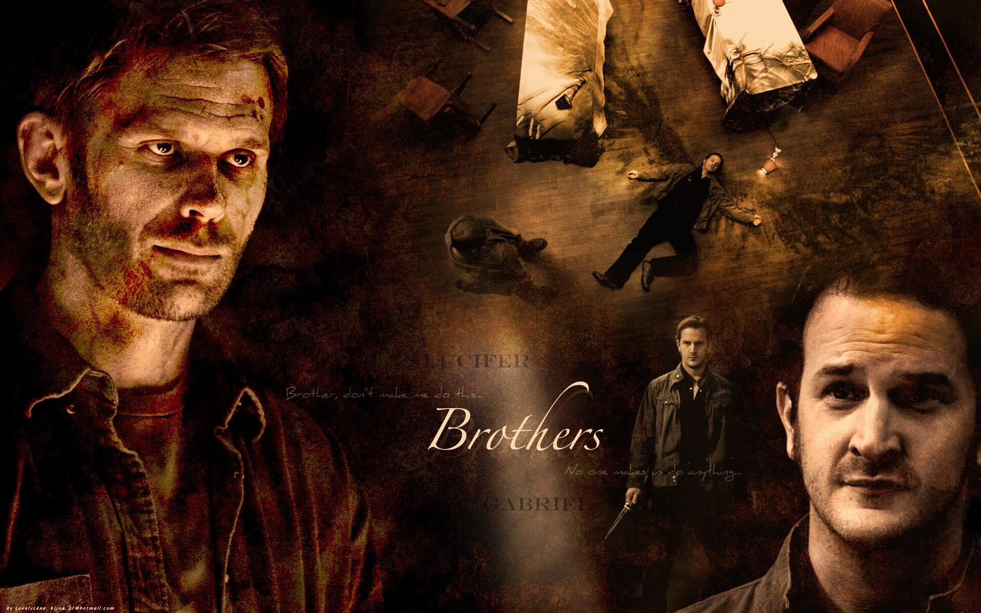 Supernatural Lucifer and Gabriel Background