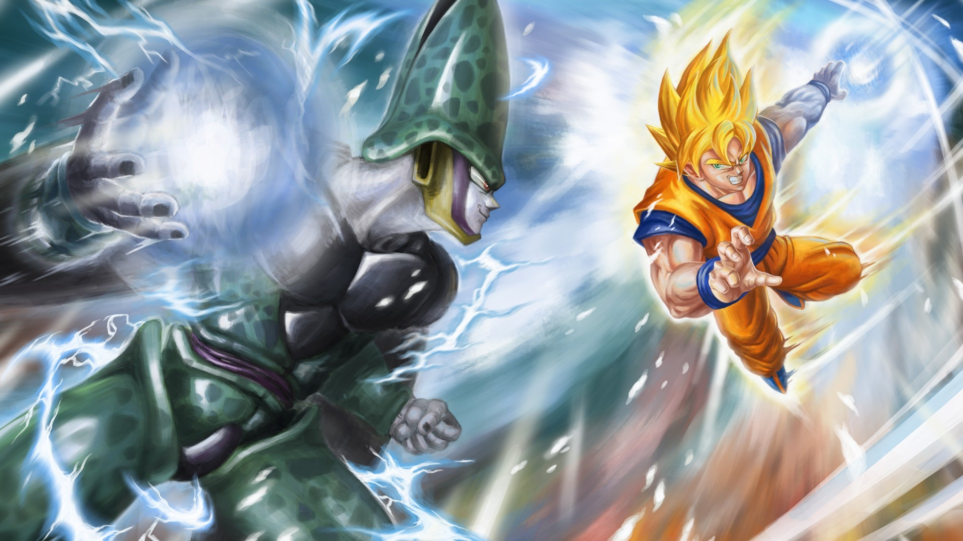 SSJ Goku vs Perfect Cell – Another well choreographed fight in Dbz. and the  shock of Goku forfeiting the match to Cell and passing the torch to Gohan.