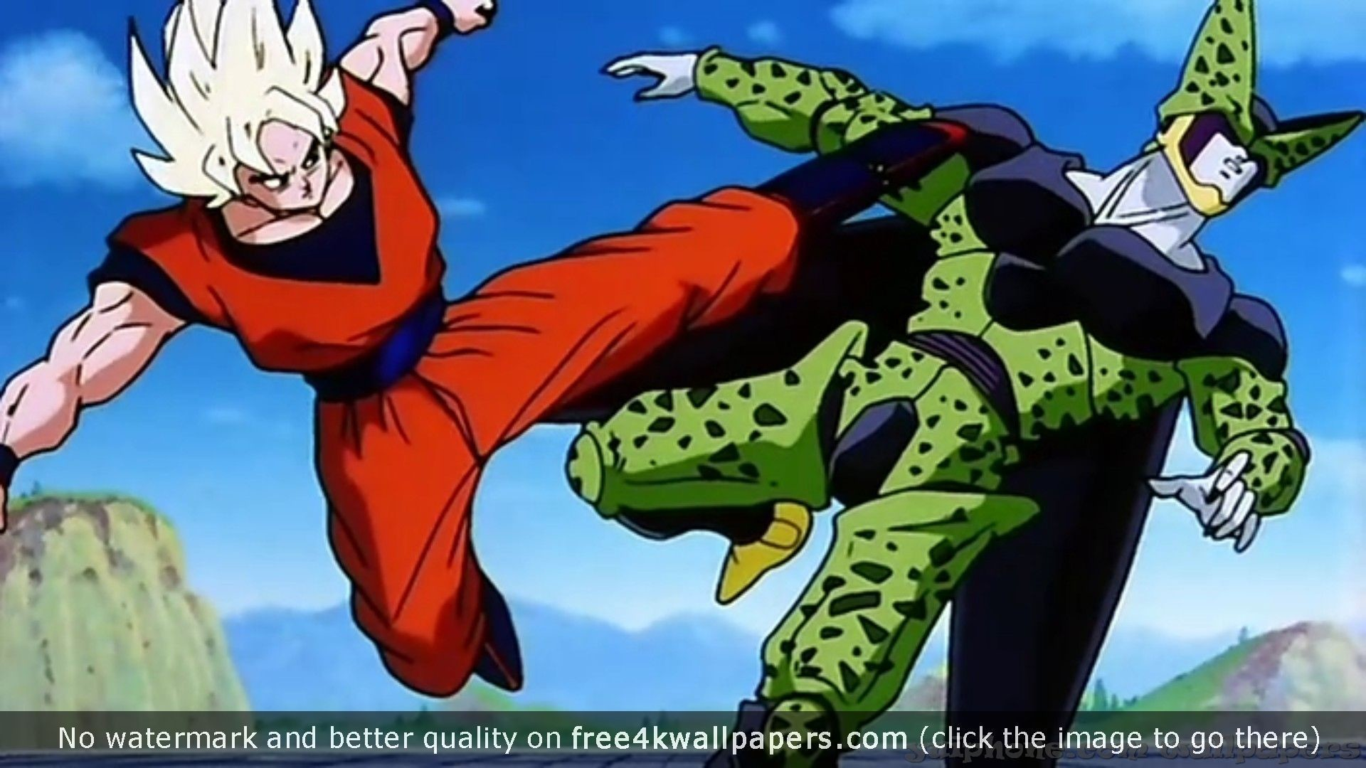 Cell Vs Goku Dragon Ball Z Backgrounds and S 4K or HD wallpaper .