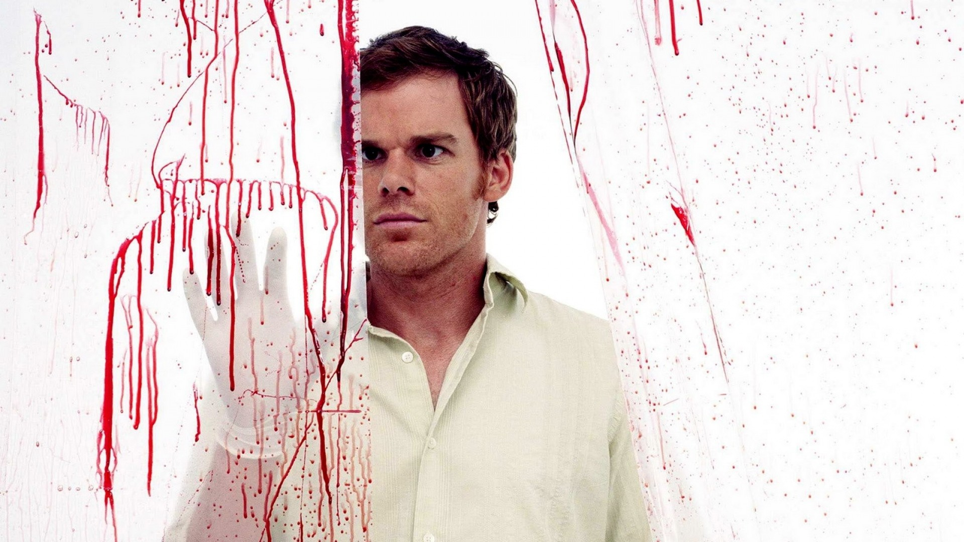Preview wallpaper dexter, dexter morgan, medical examiner, work, gloves,  blood,