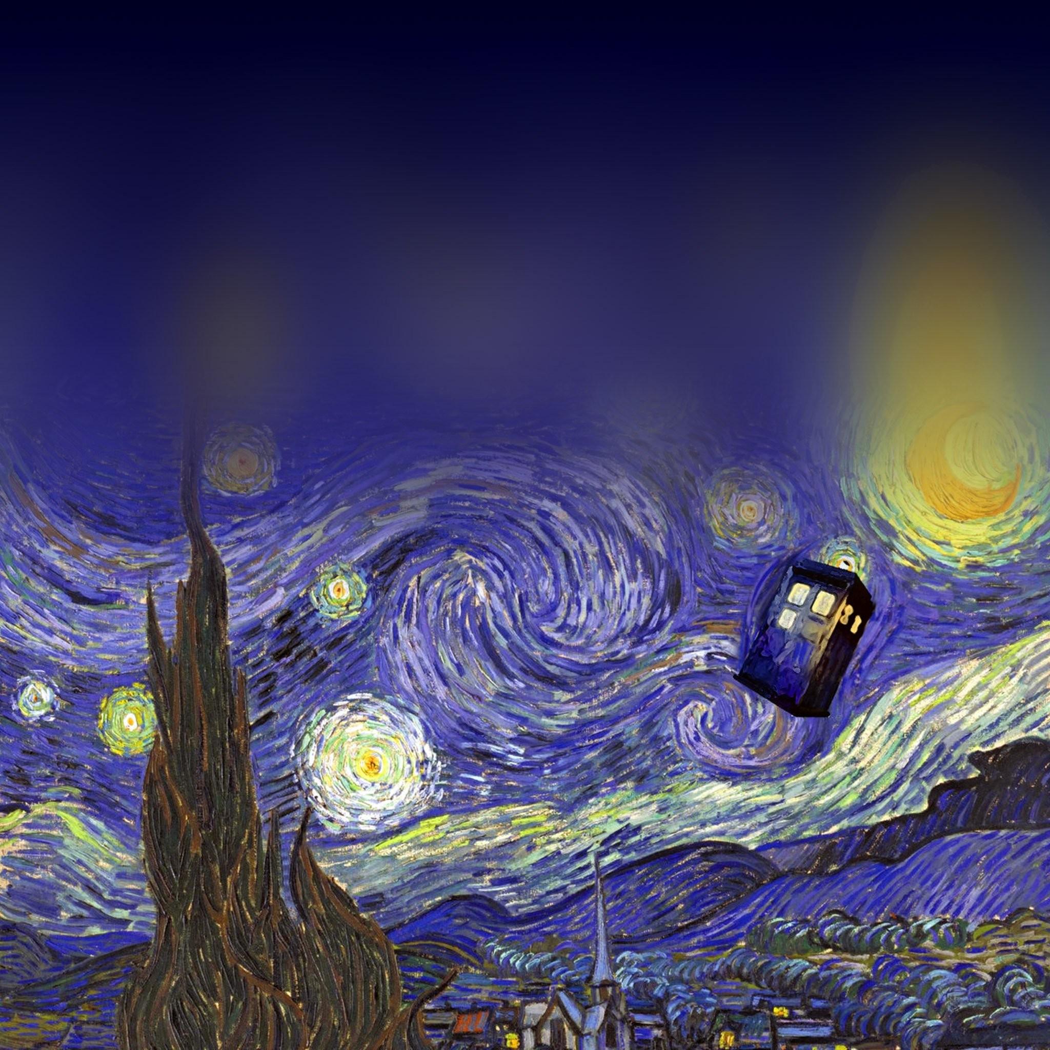 FREEIOS7 | doctor-who-art – parallax HD iPhone iPad wallpaper