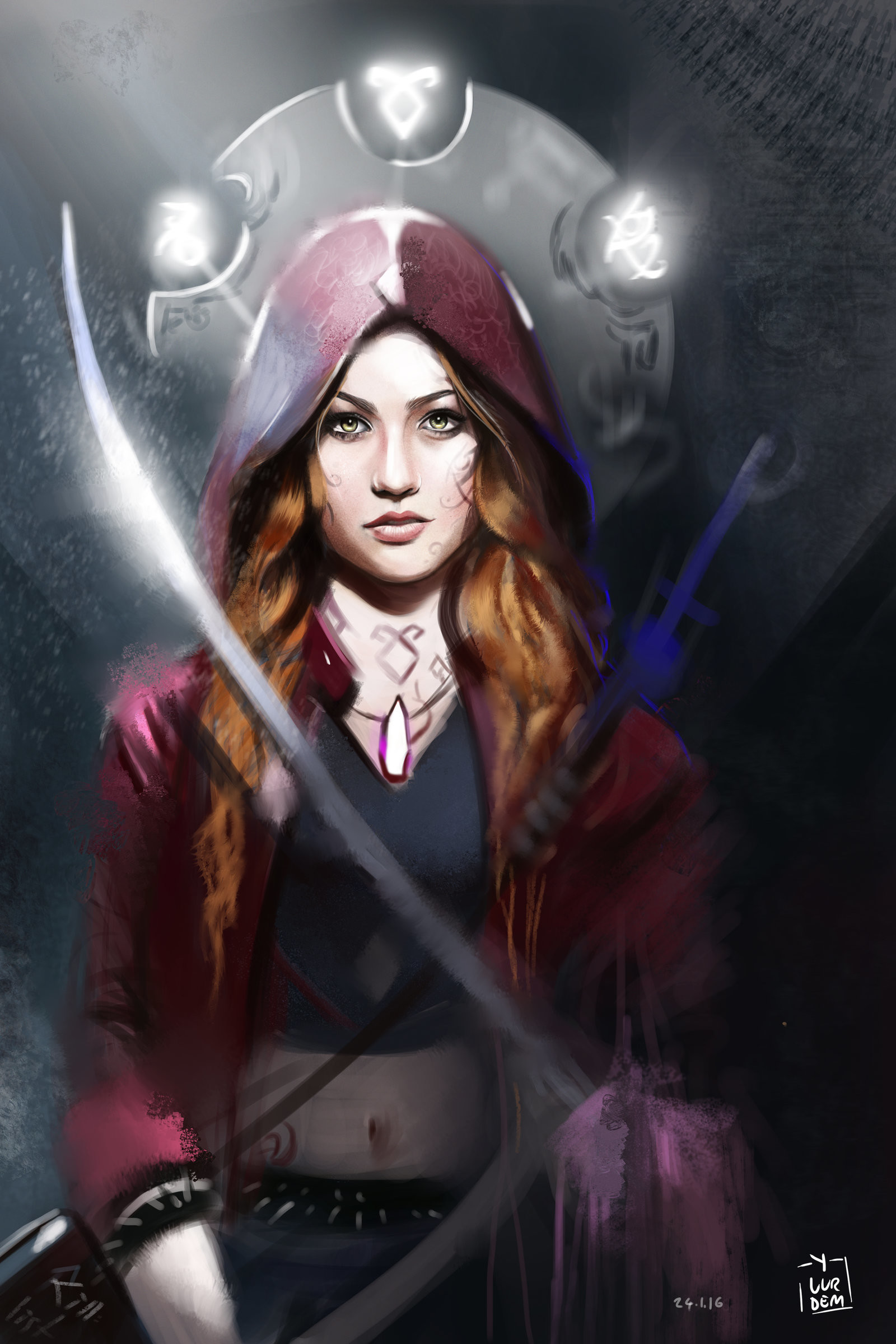 … ShadowHunters – Clary Fray Illustration / L Hunt by vurdeM