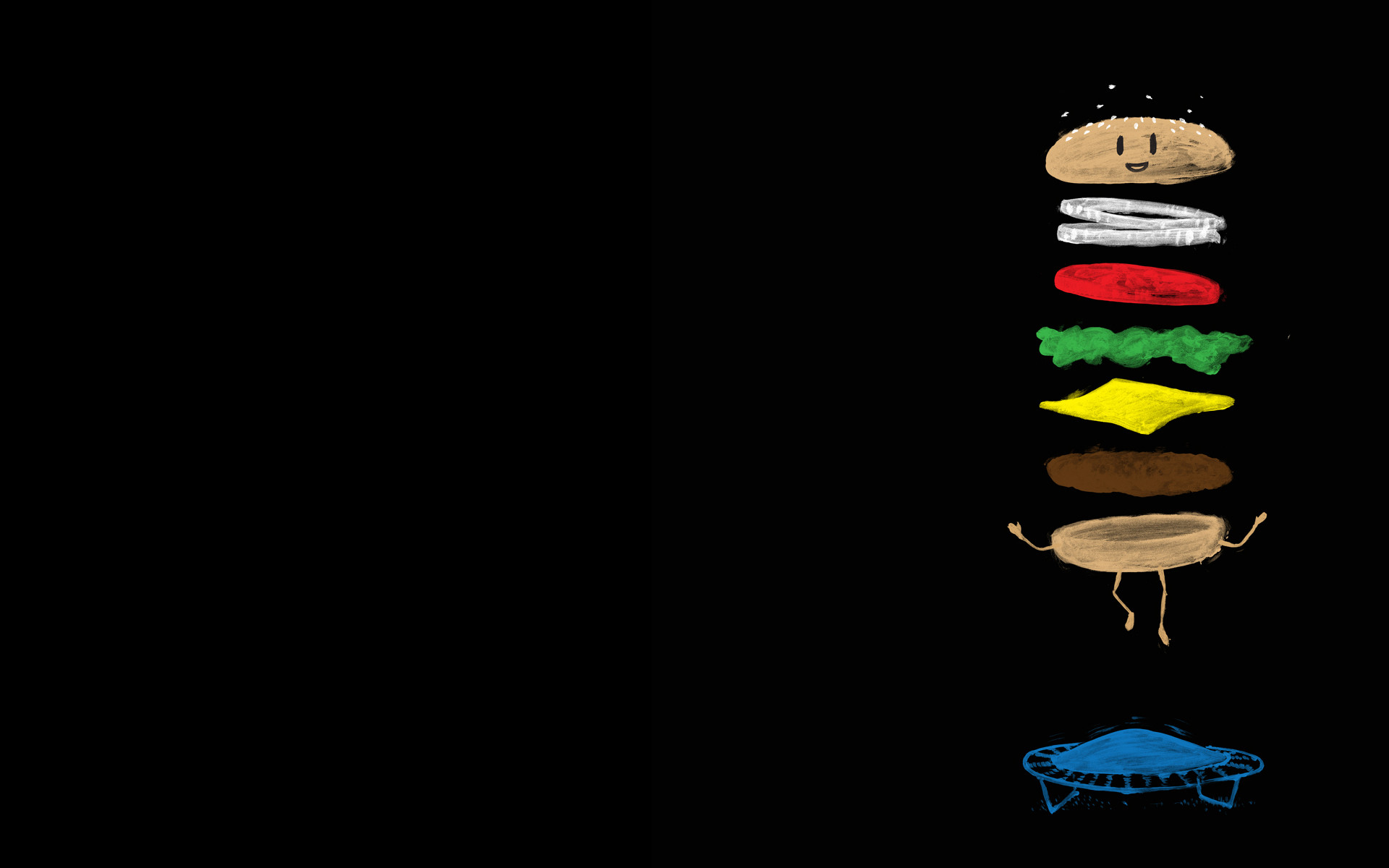 Jumping Hamburger Backgrounds for Powerpoint Presentations, Jumping .