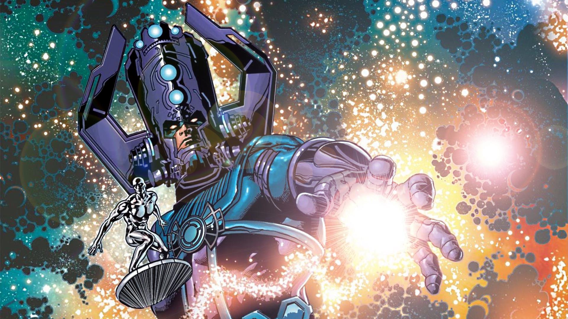 … Galactus and The Silver Surfer by ProfessorAdagio