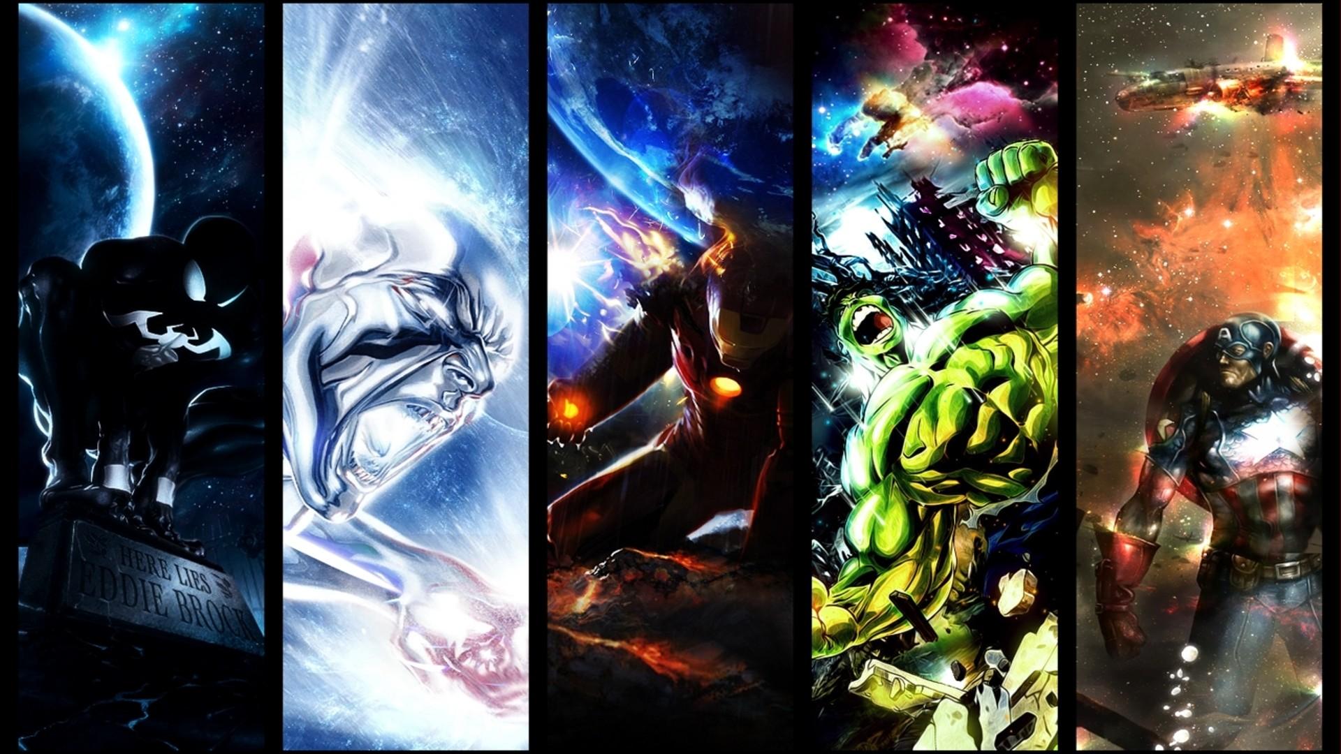 Marvel Hulk Captain America Silver Surfer Venom Spider-Man …