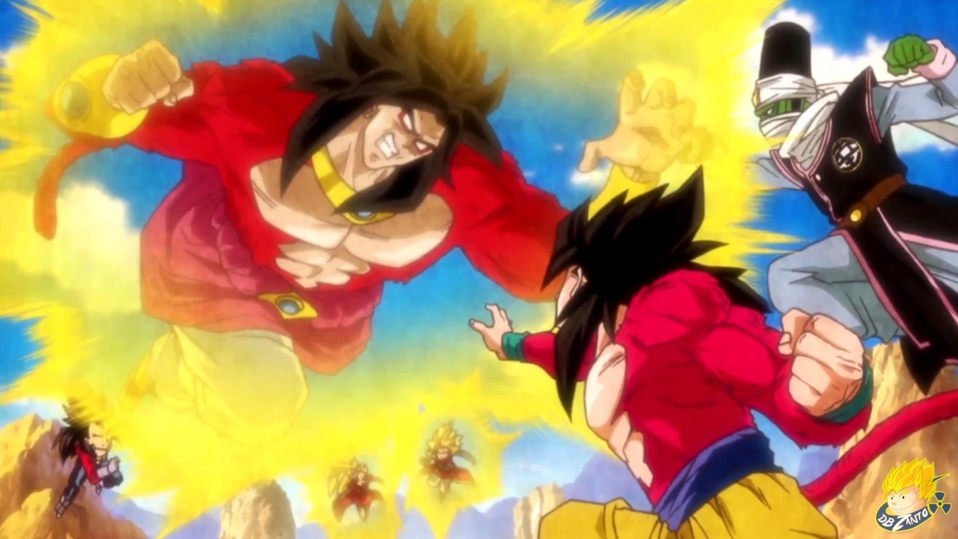 Broly Super Saiyin 4 – Entering the fight.