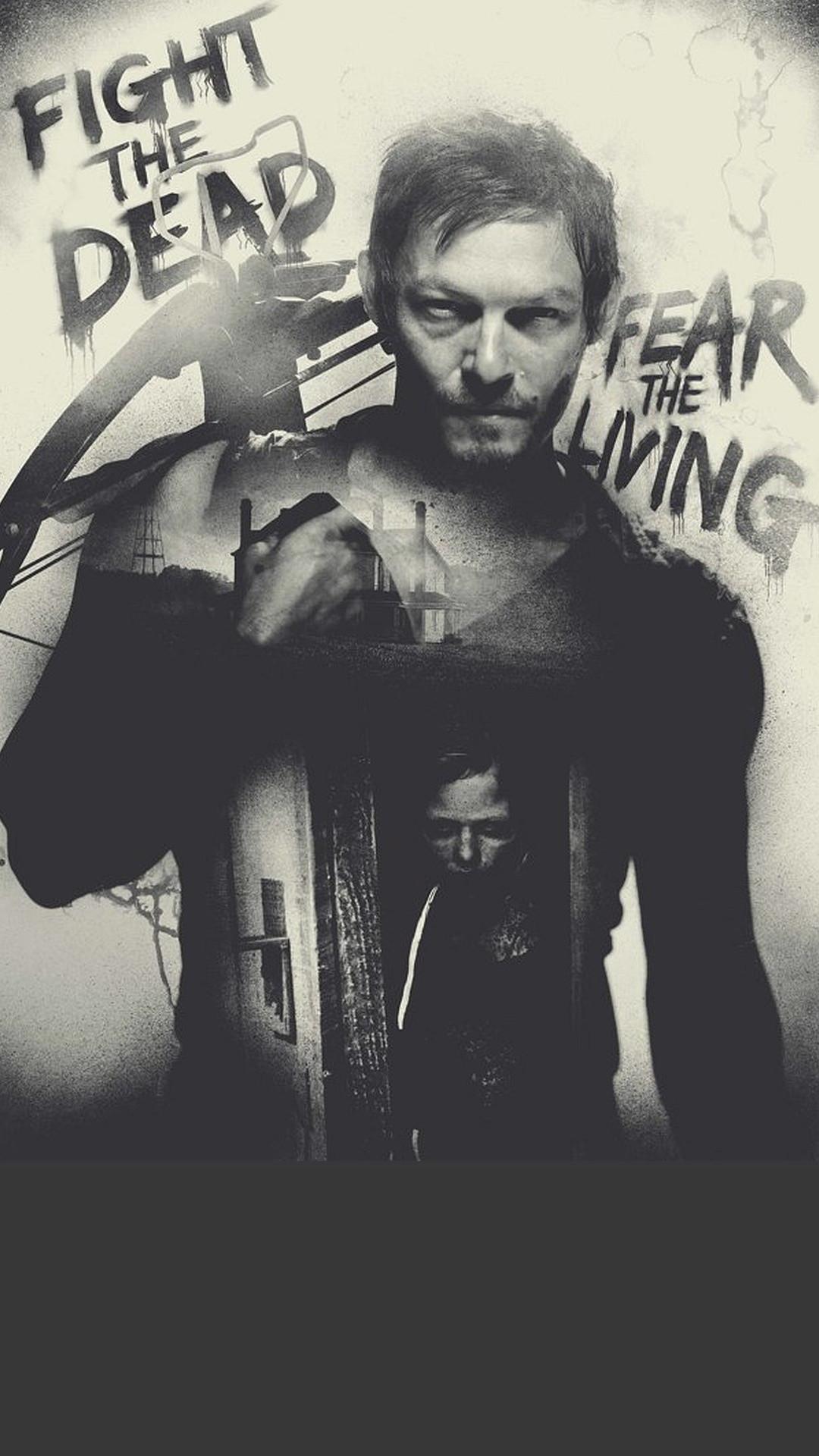 Darel The Walking Dead Iphone Wallpaper Hd