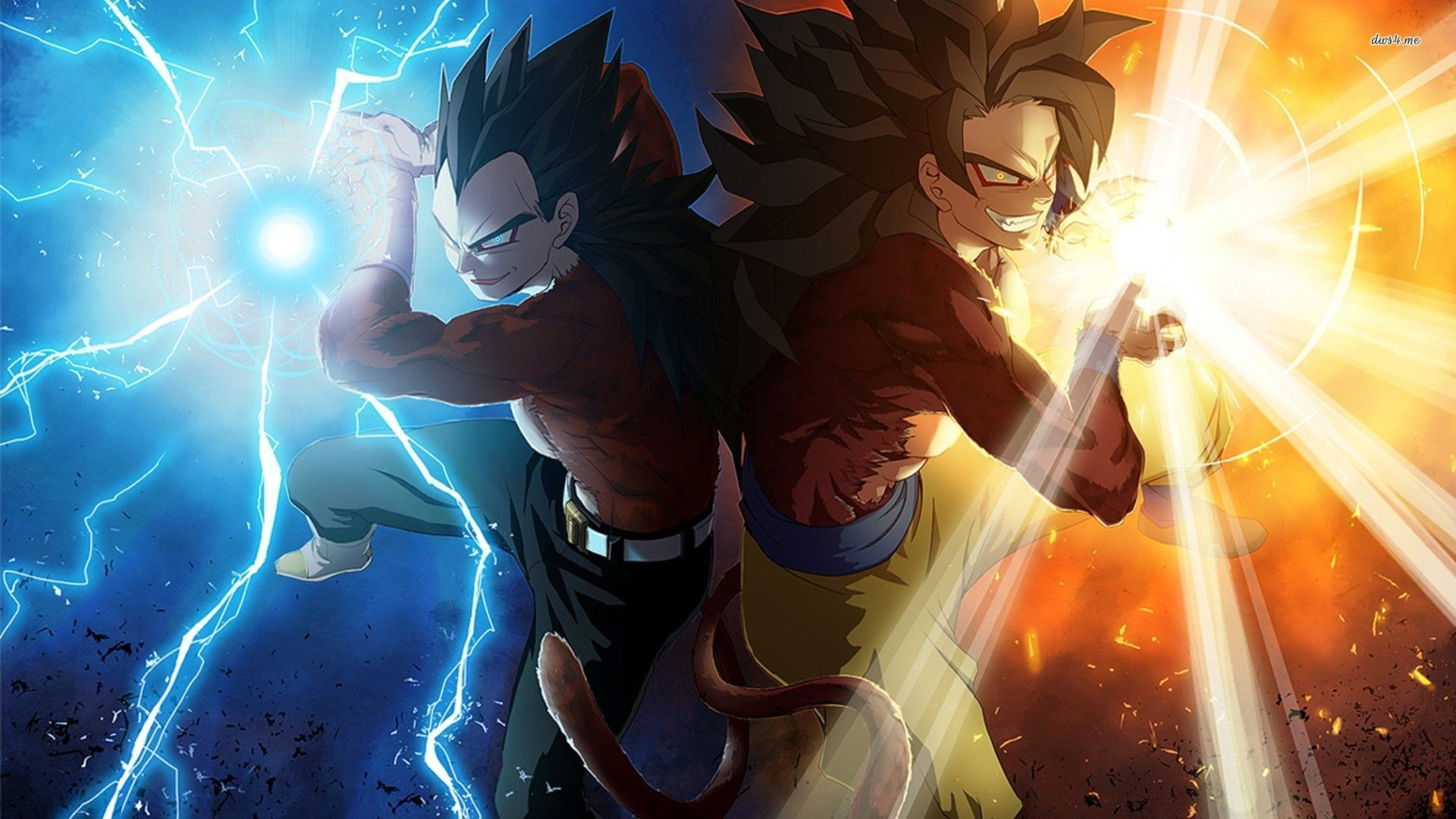 Dragon Ball GT wallpaper 1280×800 Vegeta and Son Goku – Dragon Ball .
