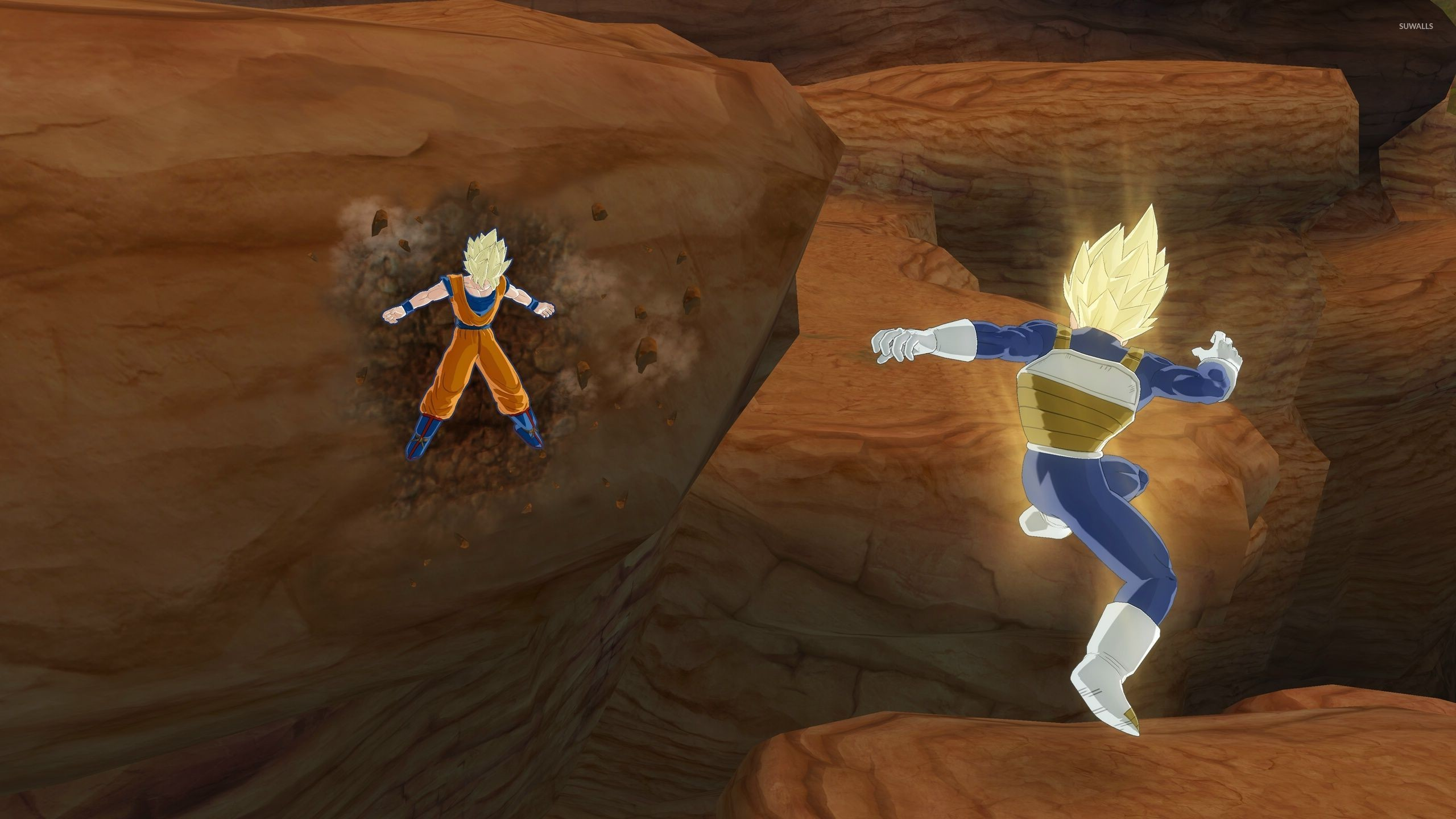 Vegeta vs Goku in Dragon Ball Z wallpaper jpg