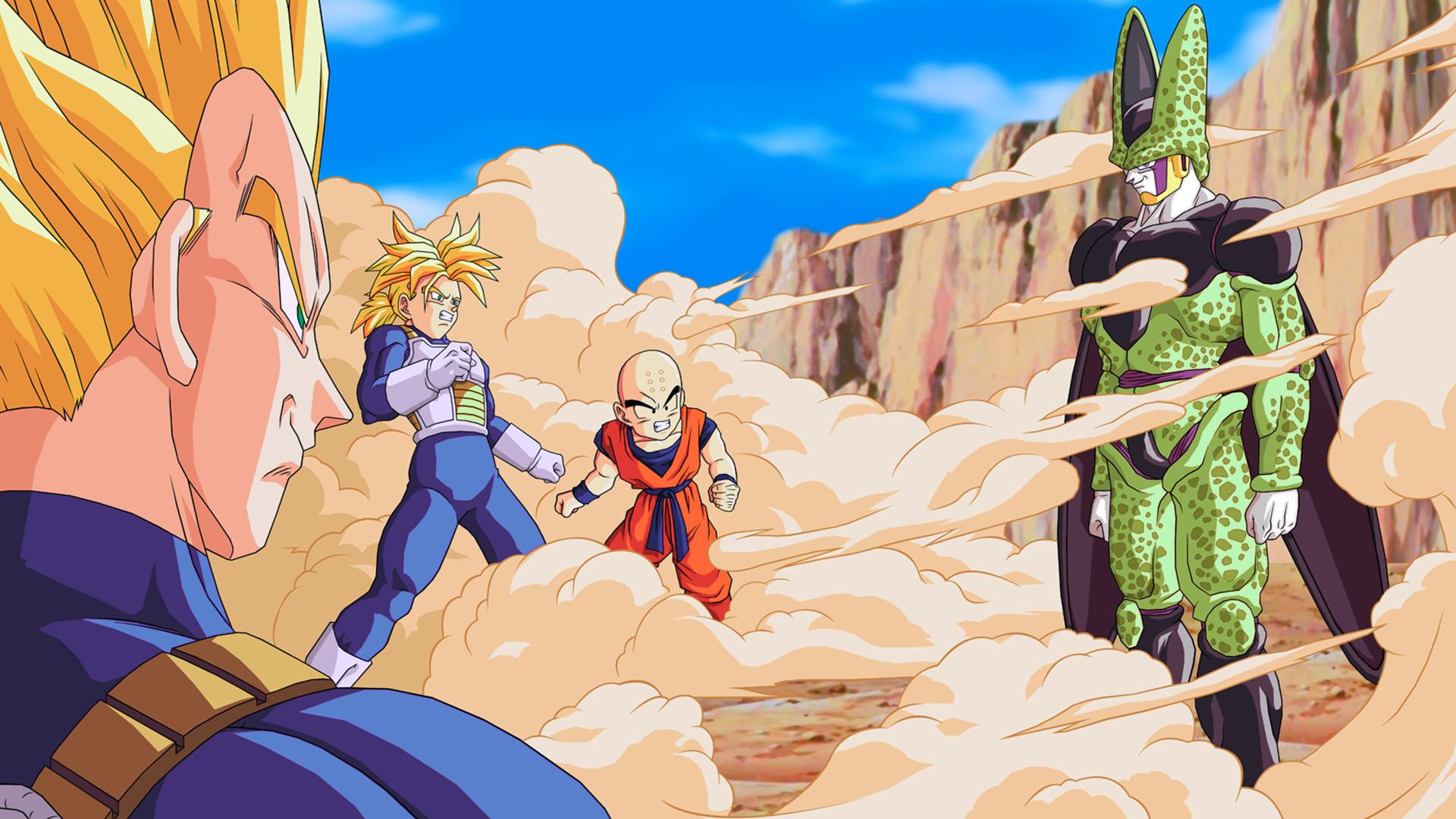 Anime Dragon Ball Z Cell (Dragon Ball) Trunks (Dragon Ball) Krillin (Dragon  Ball) Vegeta (Dragon Ball) Fond d'écran