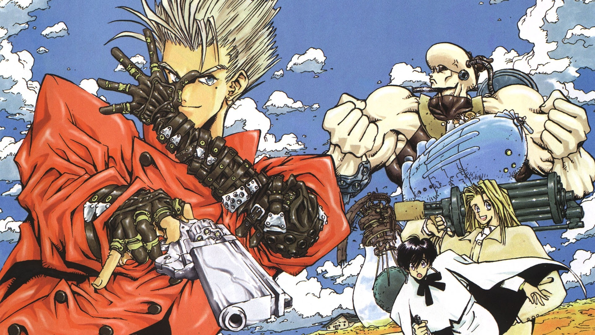 Trigun Source: Keys: anime, television, trigun, wallpaper, wallpapers.  Submitted Anonymously 3 years ago