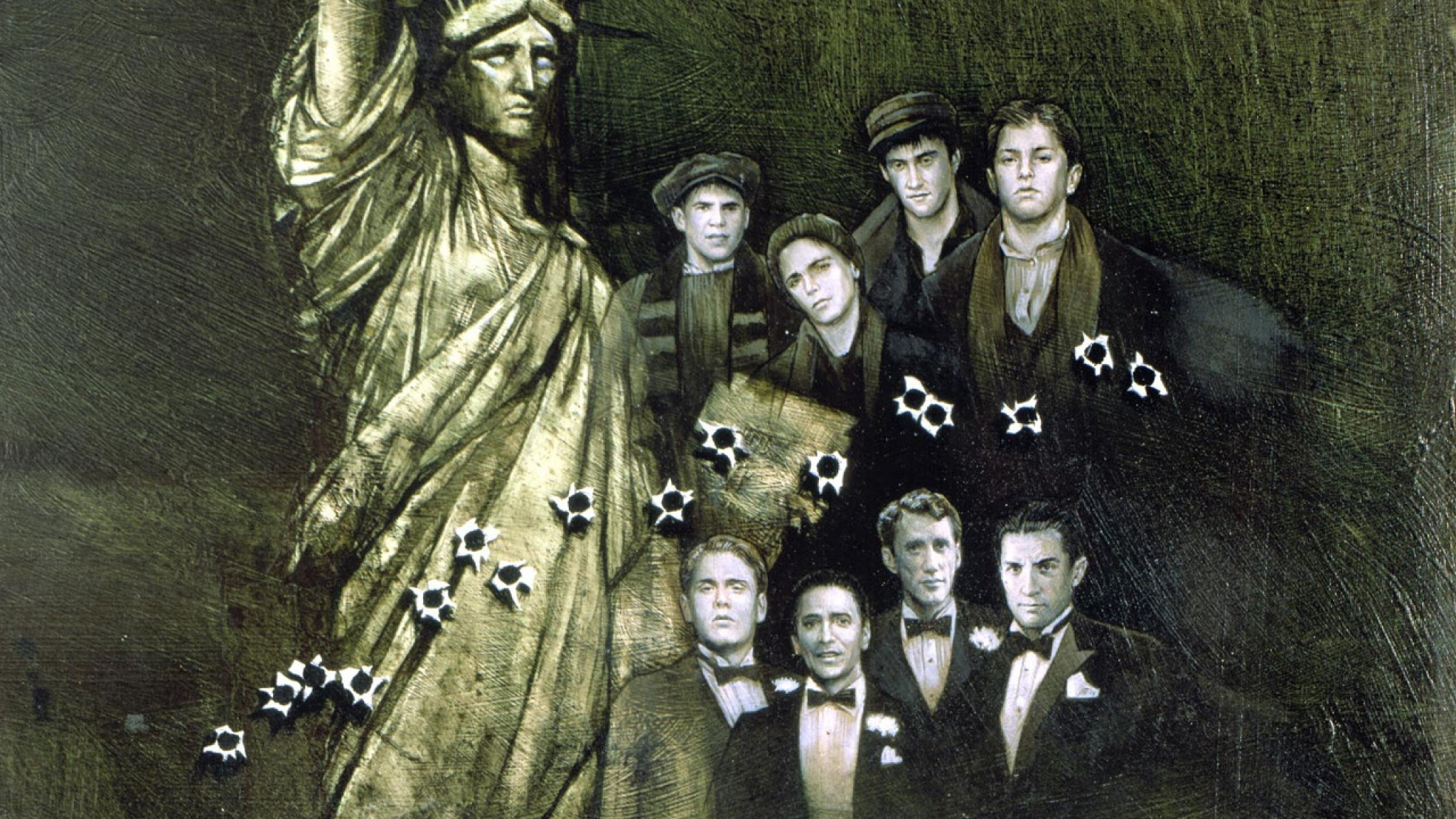 Wallpaper once upon a time in america, boys, statue of liberty
