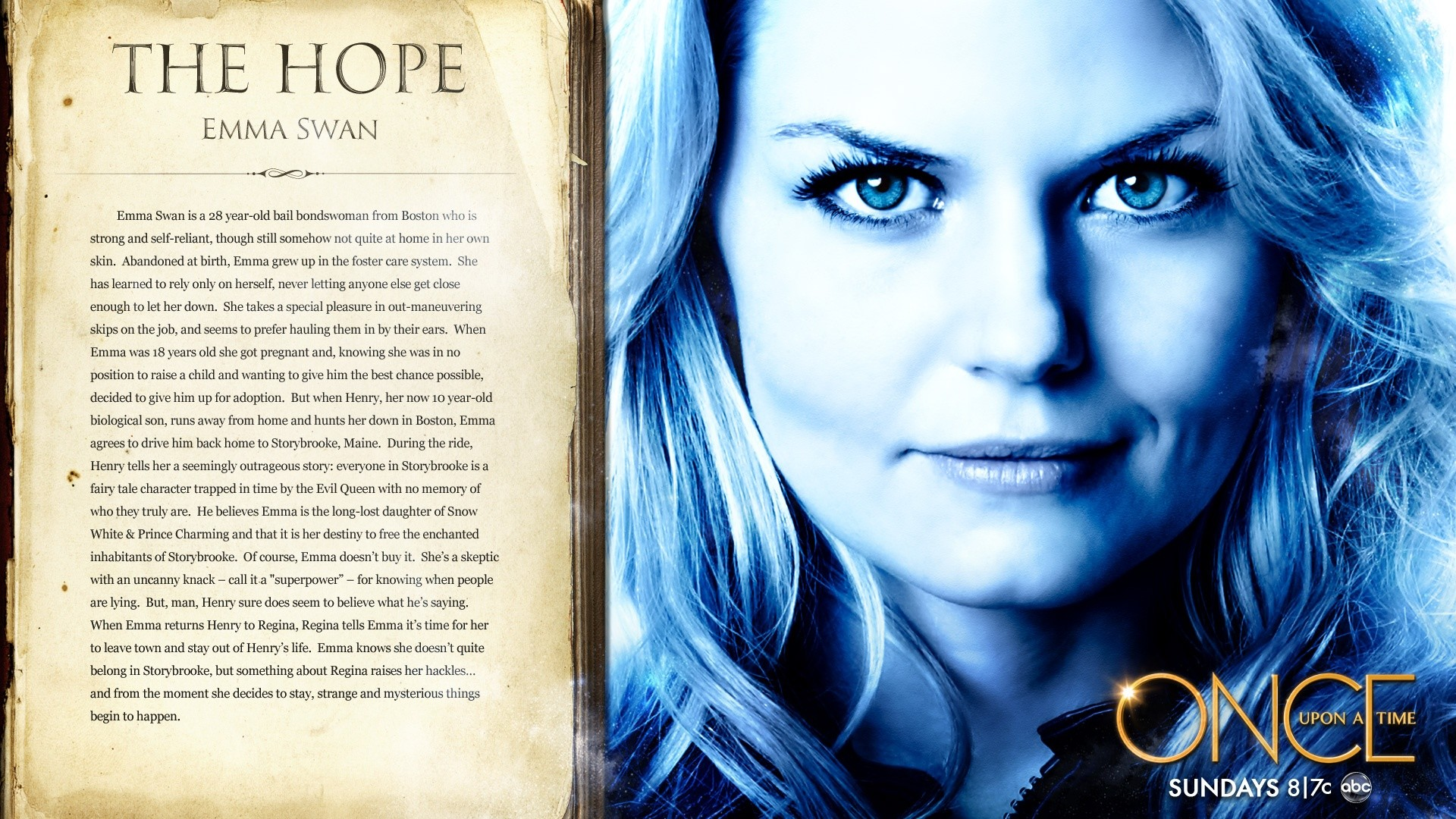 Others Once Upon A Time Season 1 Emma Swan The Hope Wallpaper Once  Upon a