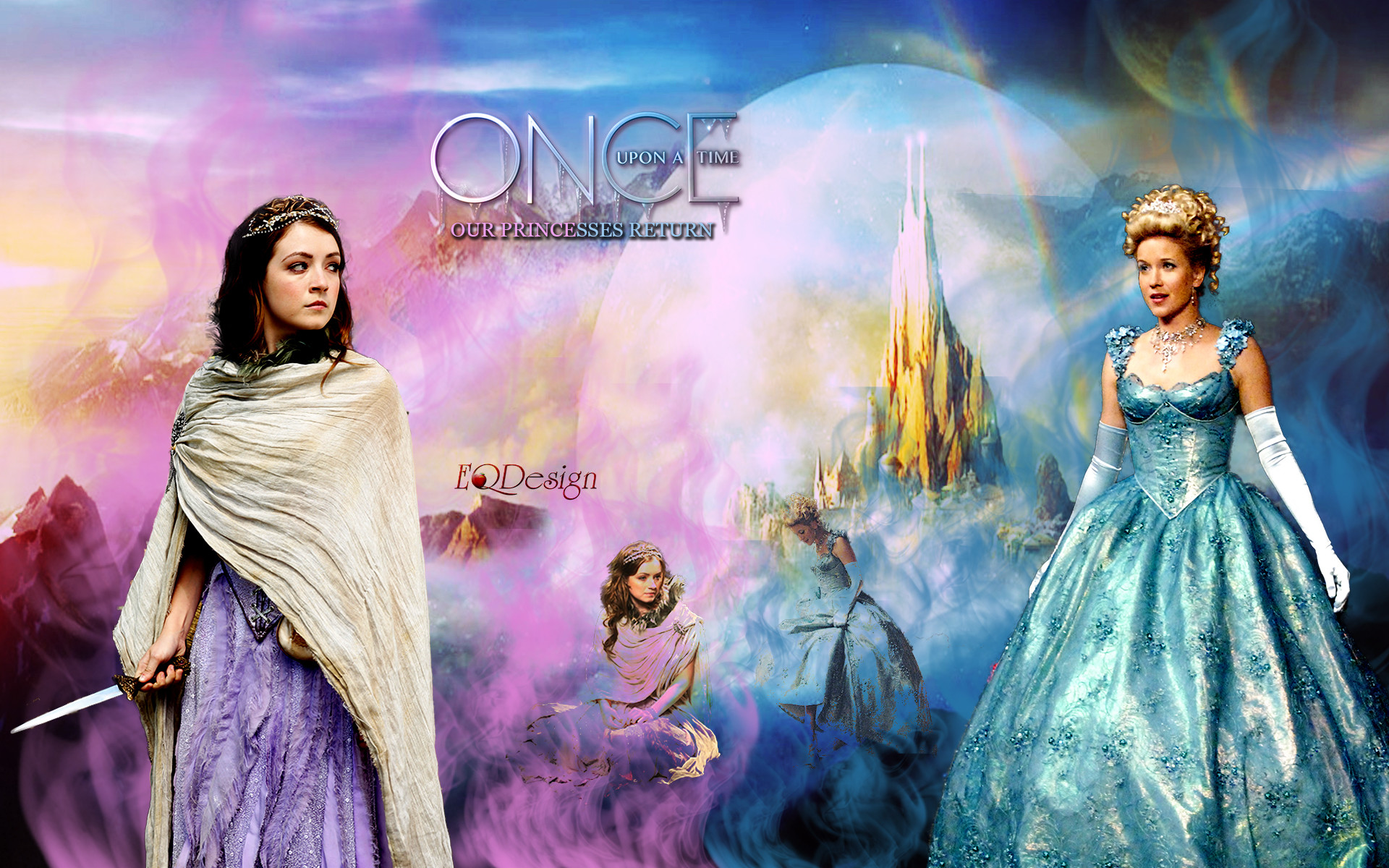… Aurora and Cinderella – Once Upon a Time by eqdesign