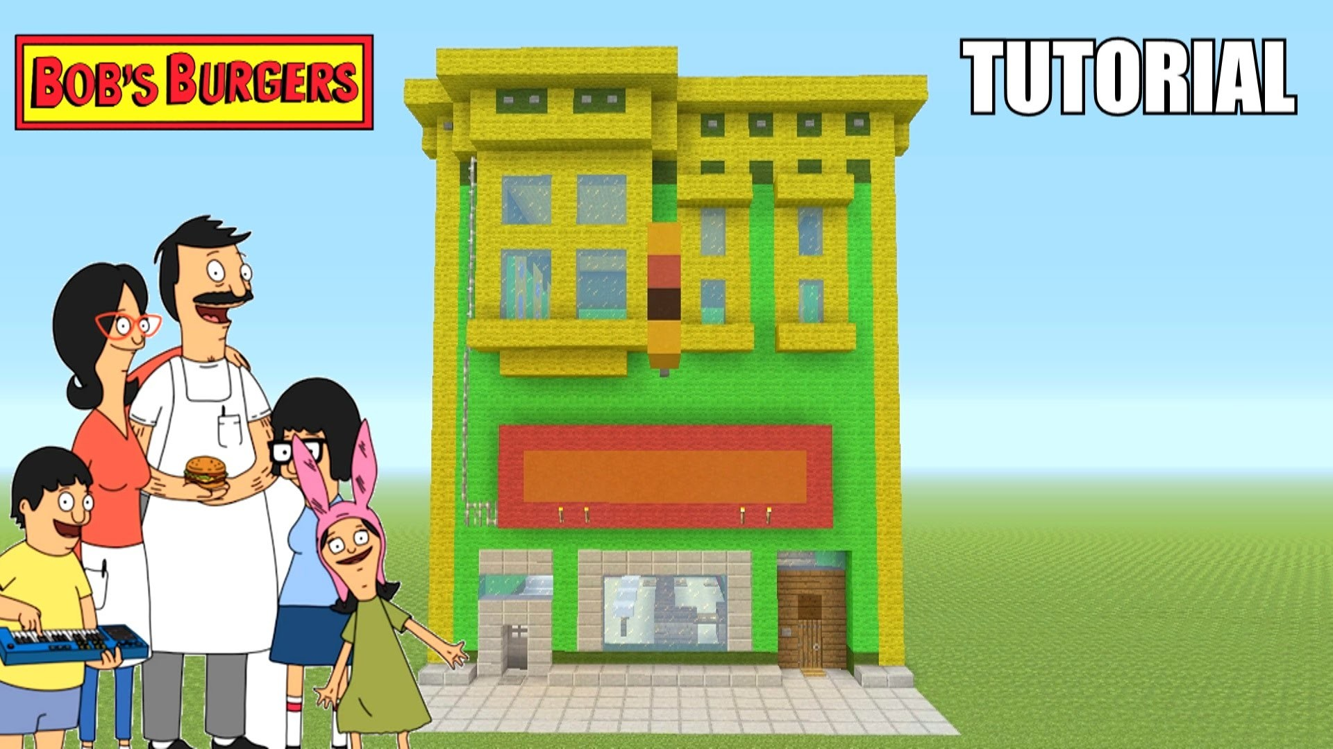 "Minecraft Tutorial: How To Make ""Bob's Burgers"" Restaurant / House! ""Bob's  Burgers"" (Survival House) – YouTube"