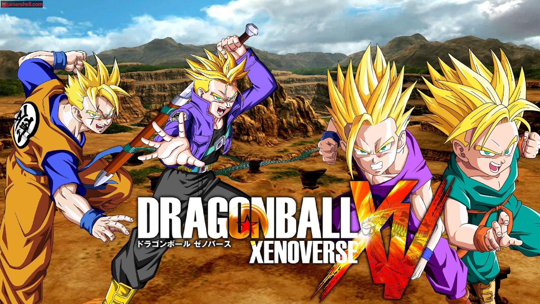 DRAGON BALL XENOVERSE Future Vs Past: Future Gohan & Trunks Vs Teen Gohan &  Kid Trunks