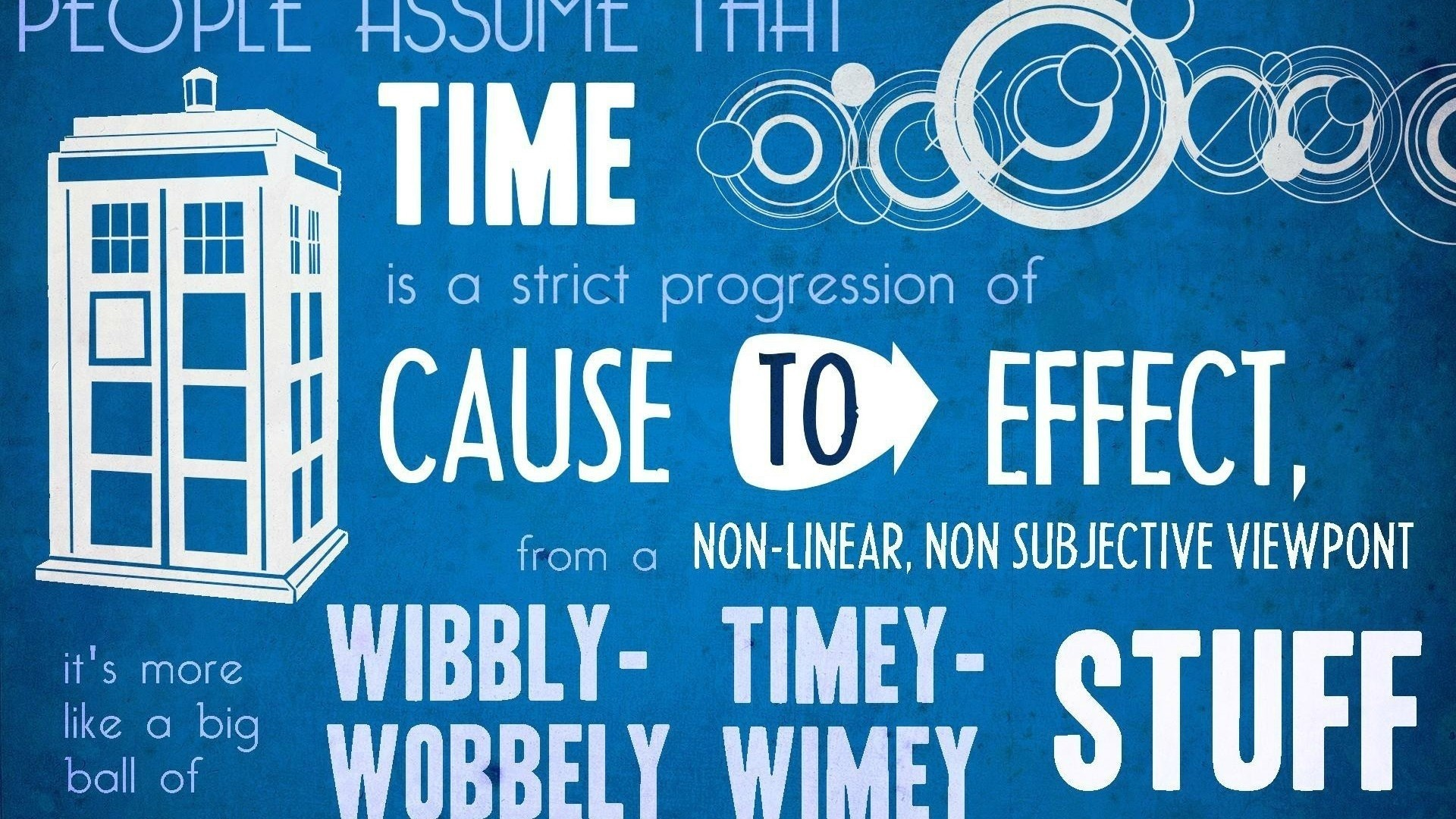 Doctor Who, The Doctor, TARDIS, David Tennant, Typography .