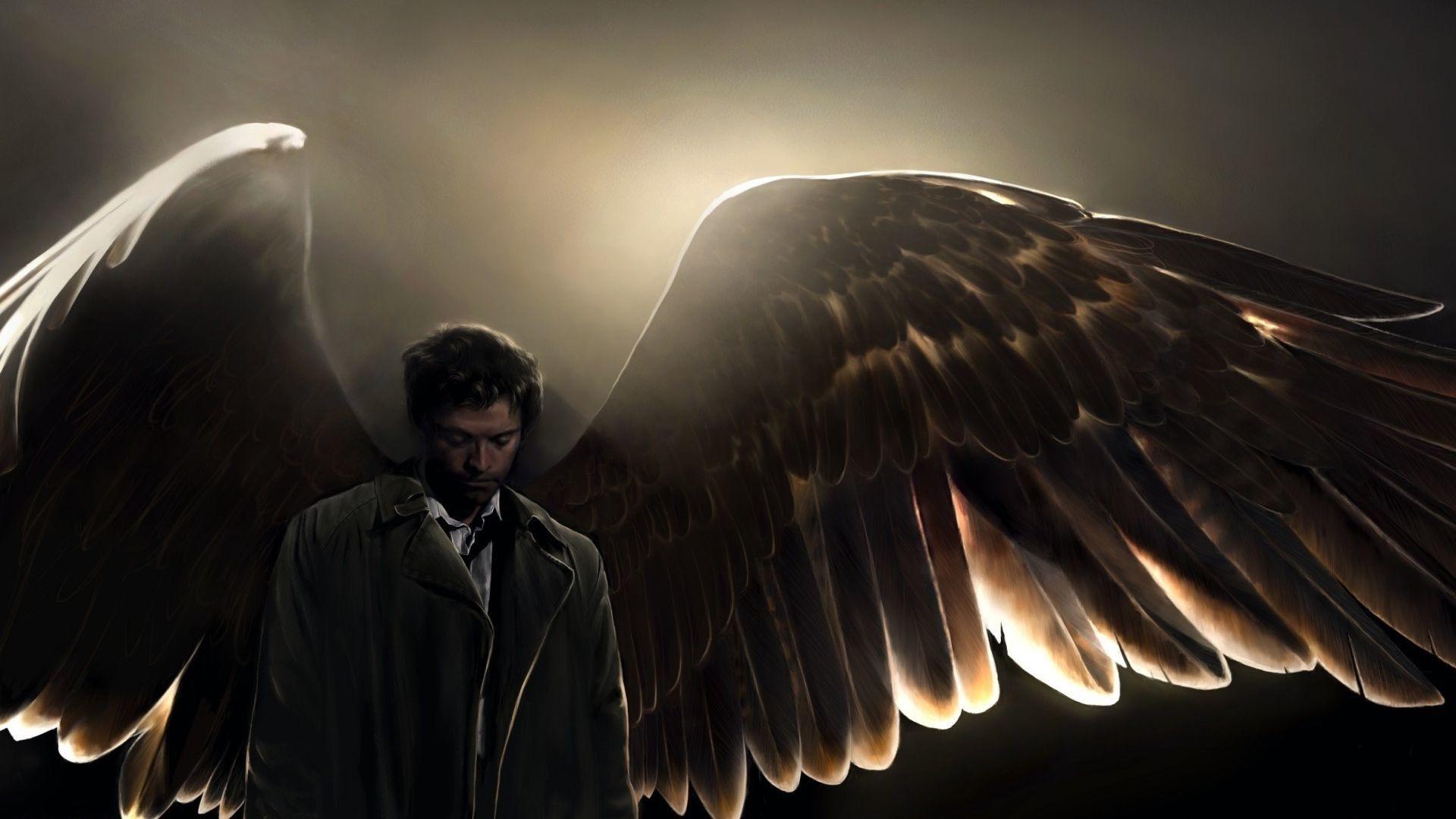 Castiel Supernatural Iphone HD Wallpaper.