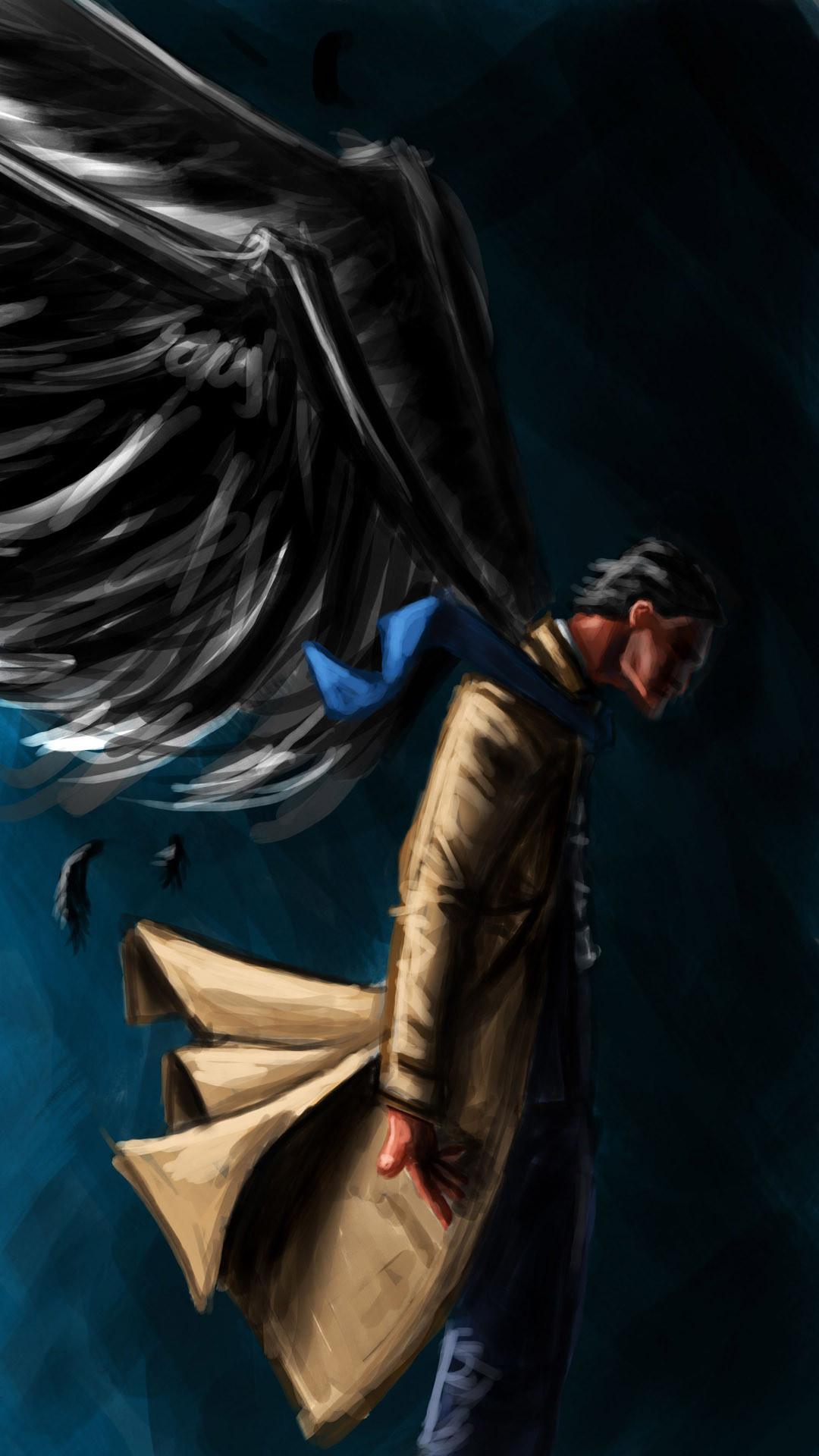 Castiel artwork – Supernatural Wallpaper