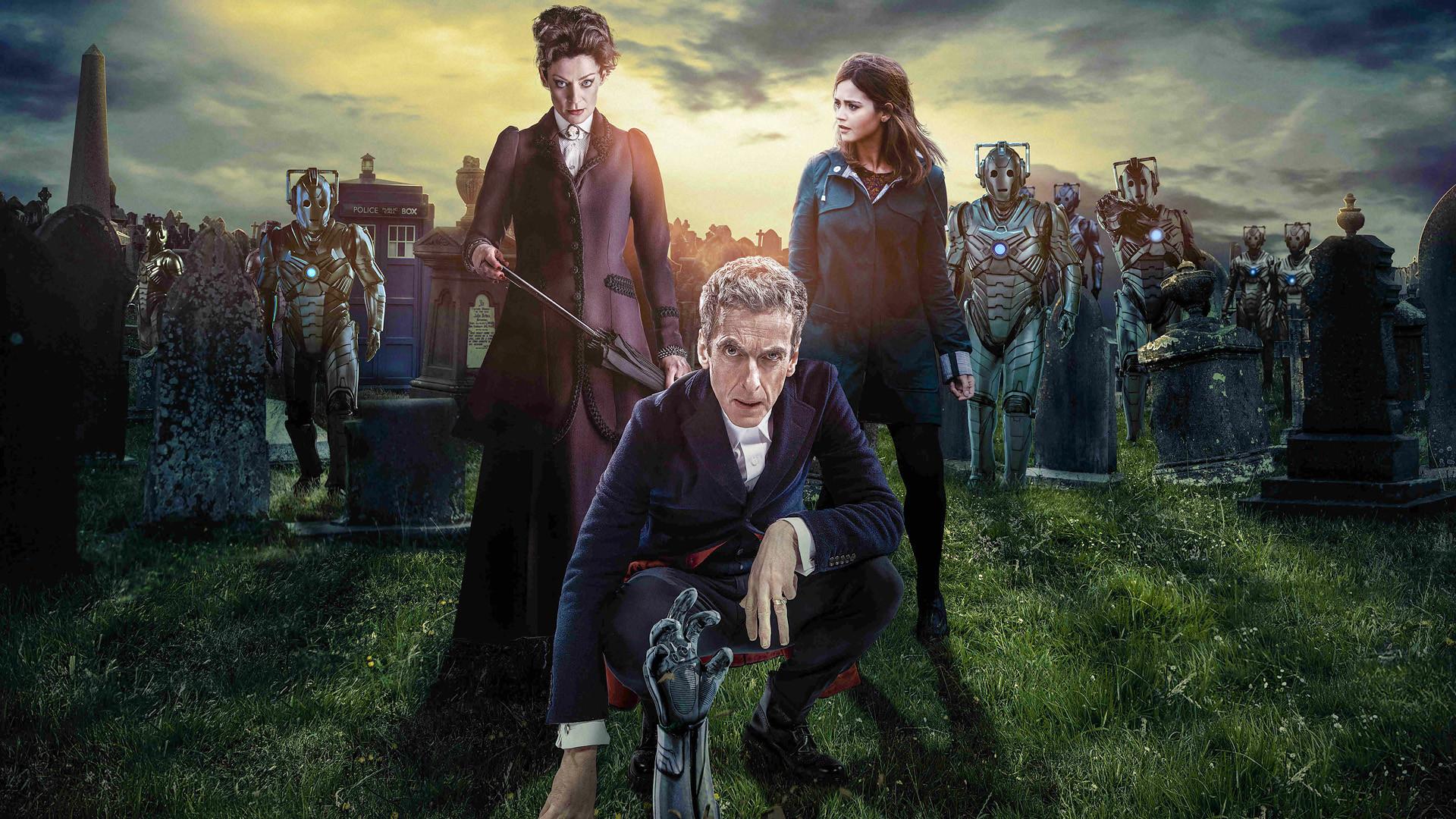 TV Show – Doctor Who Cyberman (Doctor Who) Tardis Police Box Wallpaper