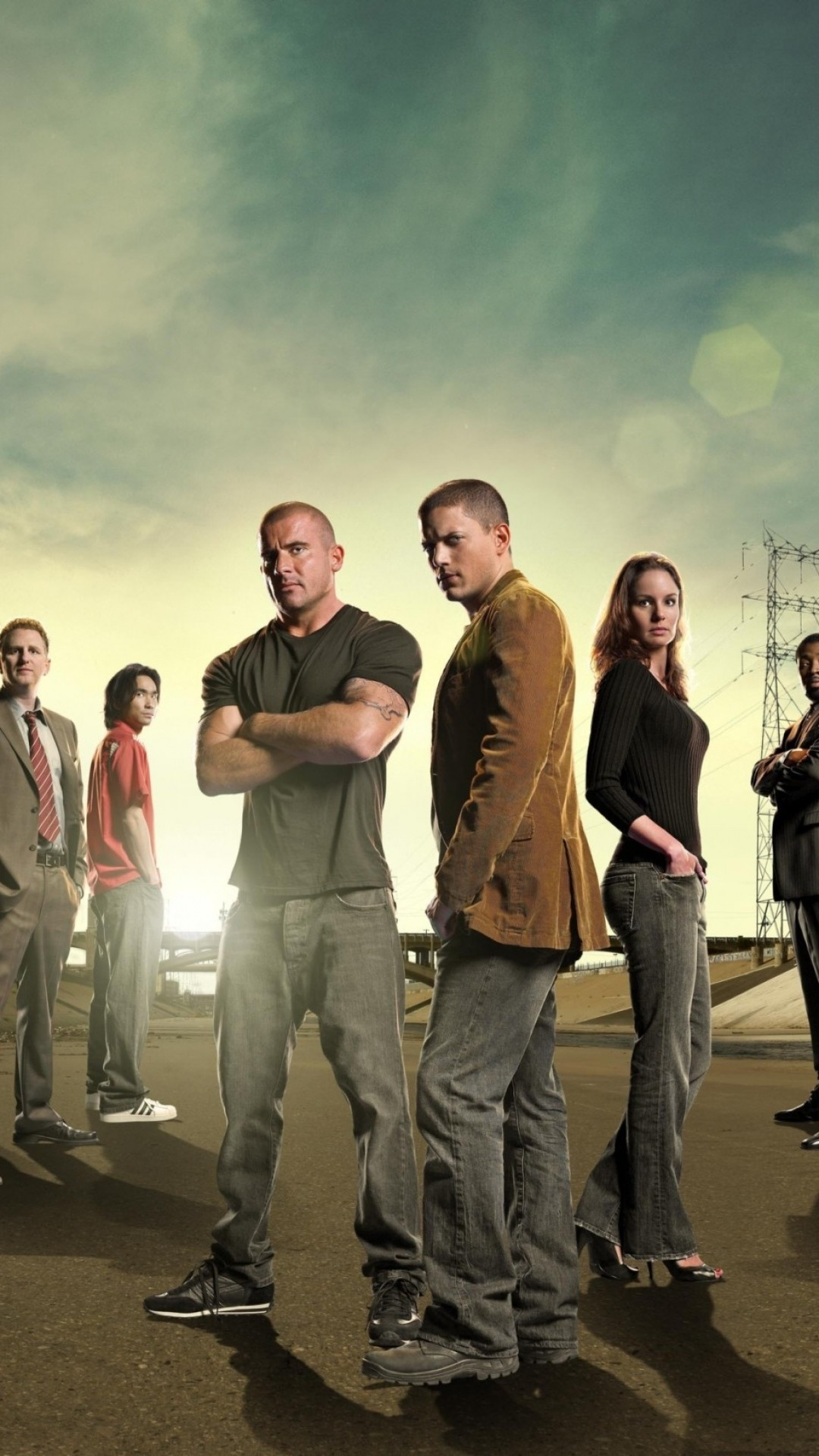 Preview wallpaper prison break, tv show, actors, dominic purcell, wentworth  miller,