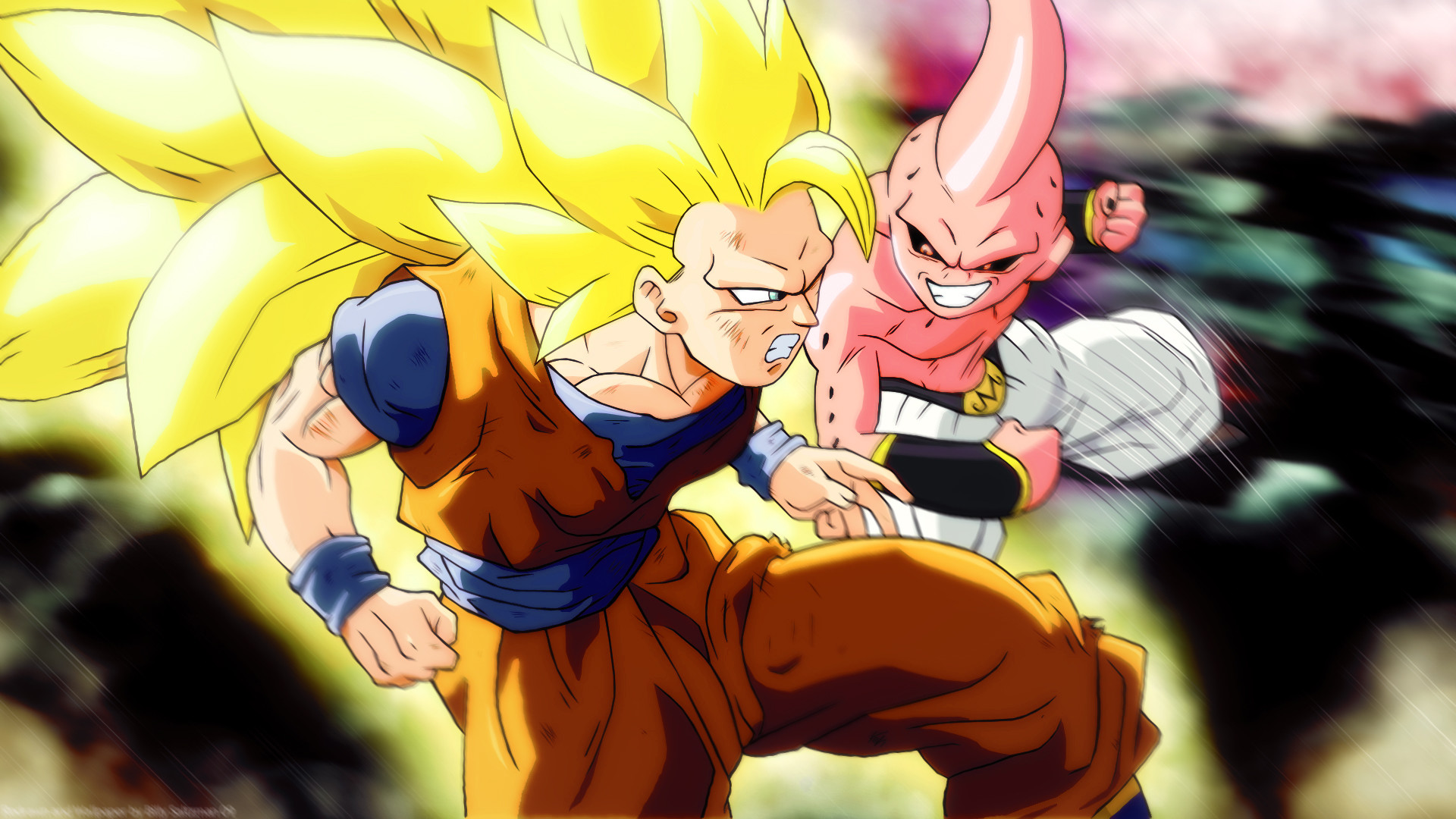 … Attachment for Dragon Ball Z Wallpaper 26 of 49 – Son Goku VS Majin Boo
