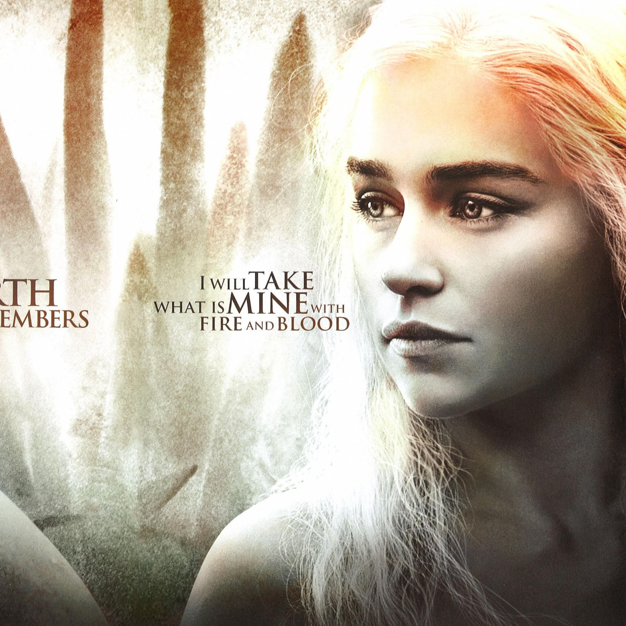 Preview wallpaper game of thrones, season 4, daenerys targaryen, jon snow,  main