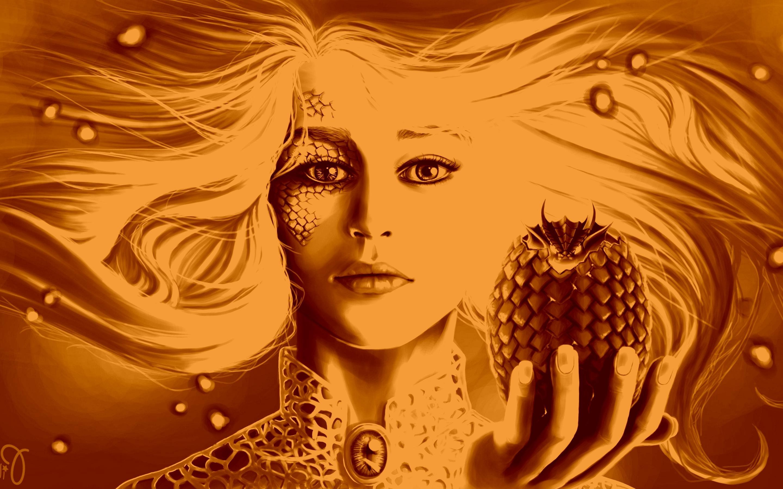 Daenerys Targaryen, Game Of Thrones, Dragon, Artwork Wallpapers HD / Desktop  and Mobile Backgrounds