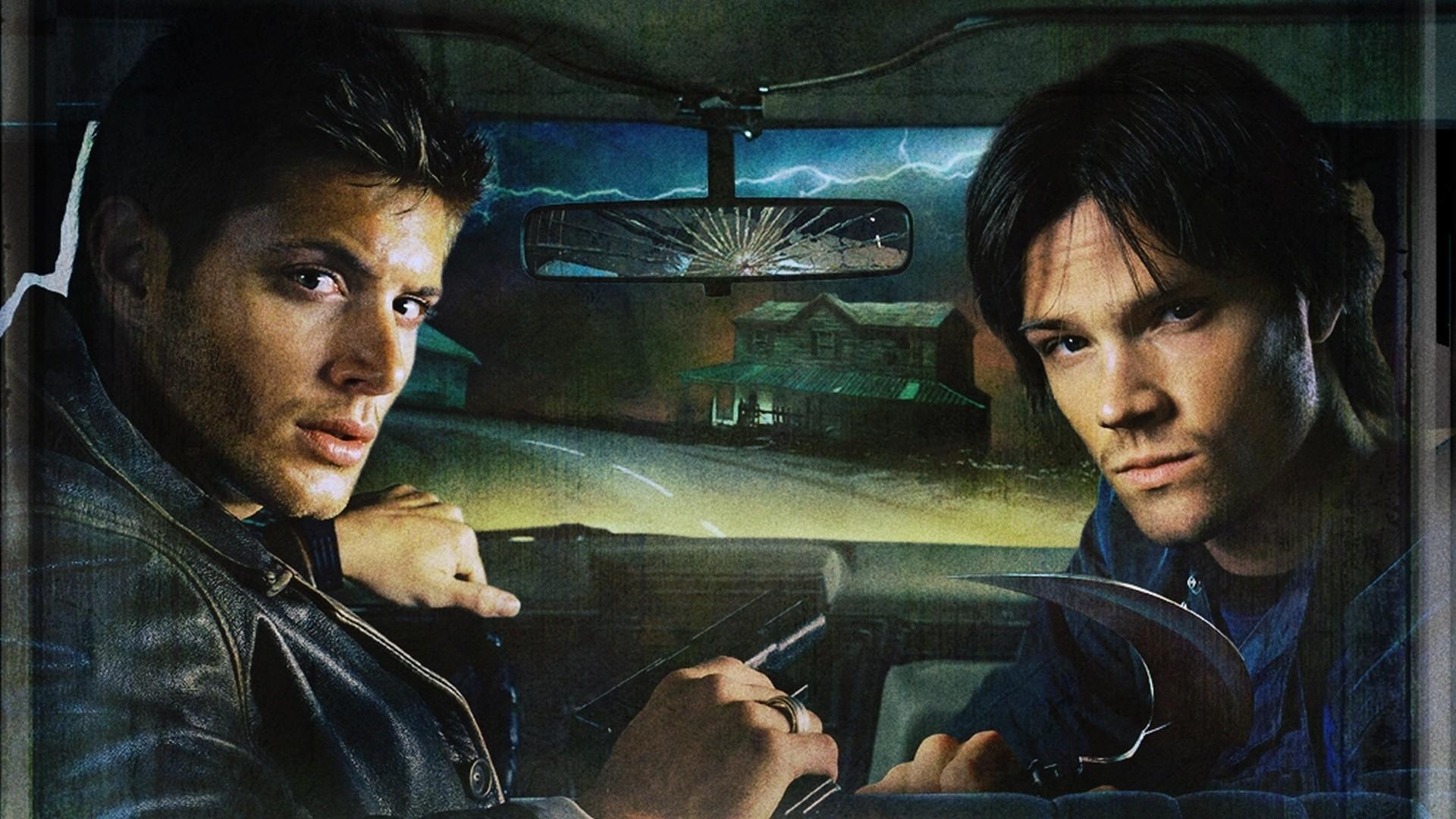 Brunettes Supernatural pistols cars scythe houses rings jackets knives  actors male lightning Jensen Ackles Jared Padalecki cottage Supernatural  (TV series) …
