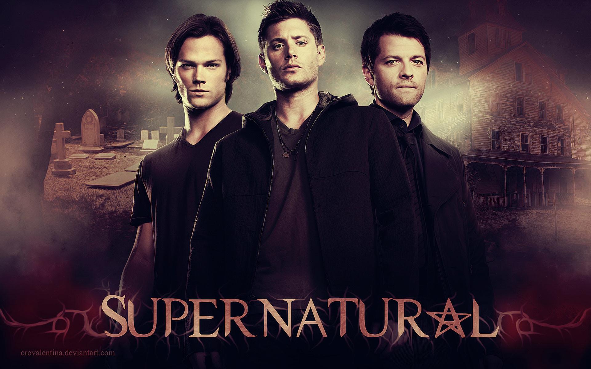 Jared Padalecki, Jensen Ackles, Gil McKinney in Supernatural wallpaper